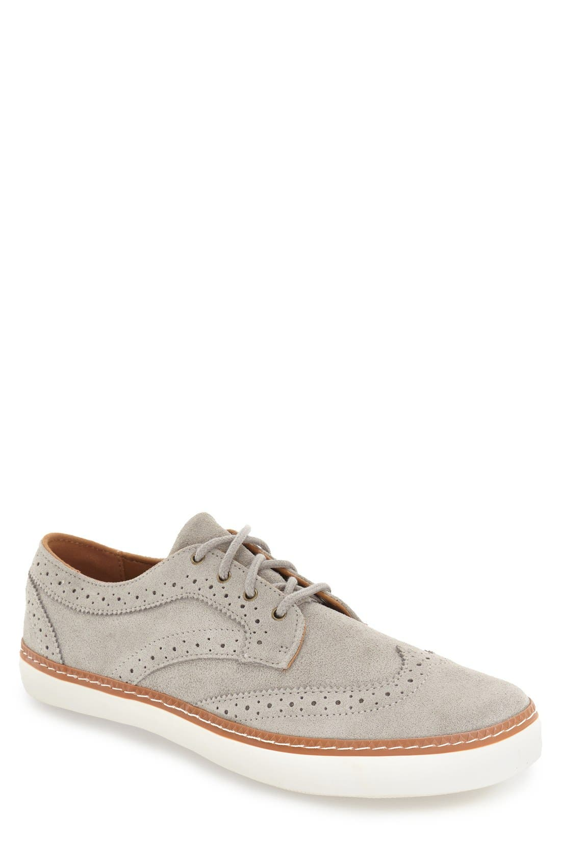 'Novello' Wingtip Sneaker,                             Main thumbnail 1, color,                             020