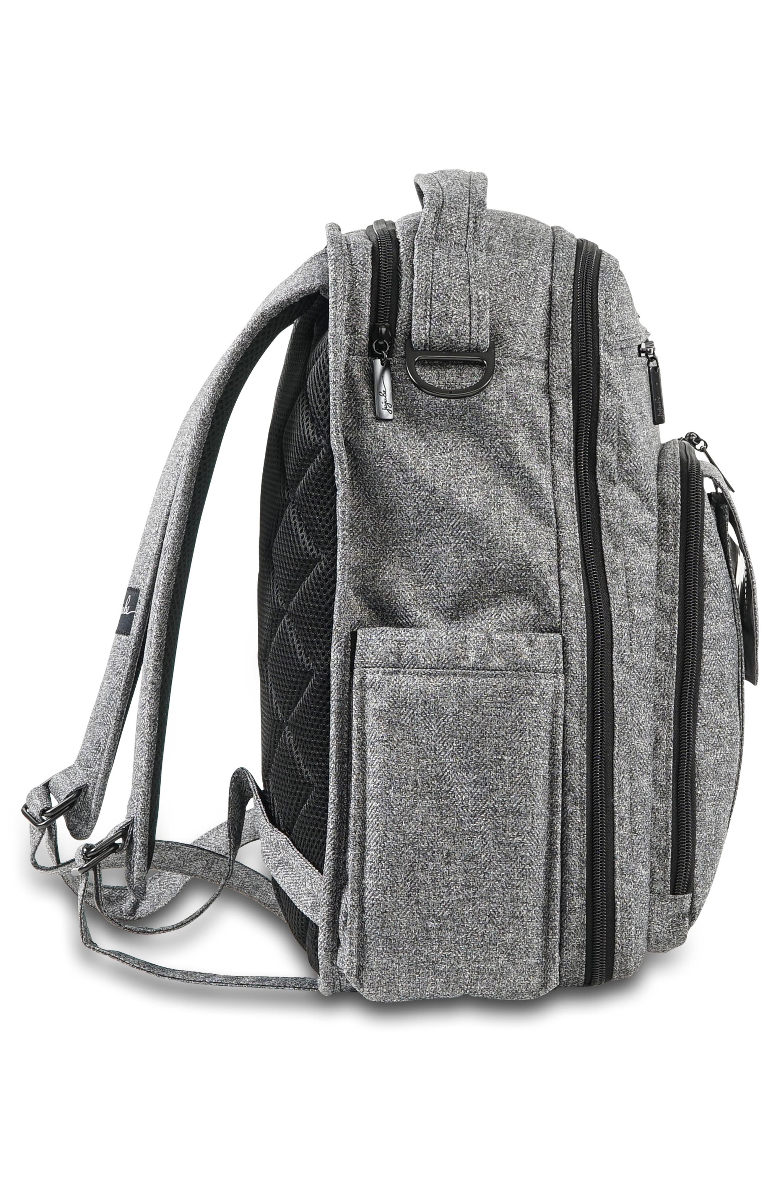 'Be Right Back - Onyx Collection' Diaper Backpack,                             Alternate thumbnail 4, color,                             GRAY MATTER