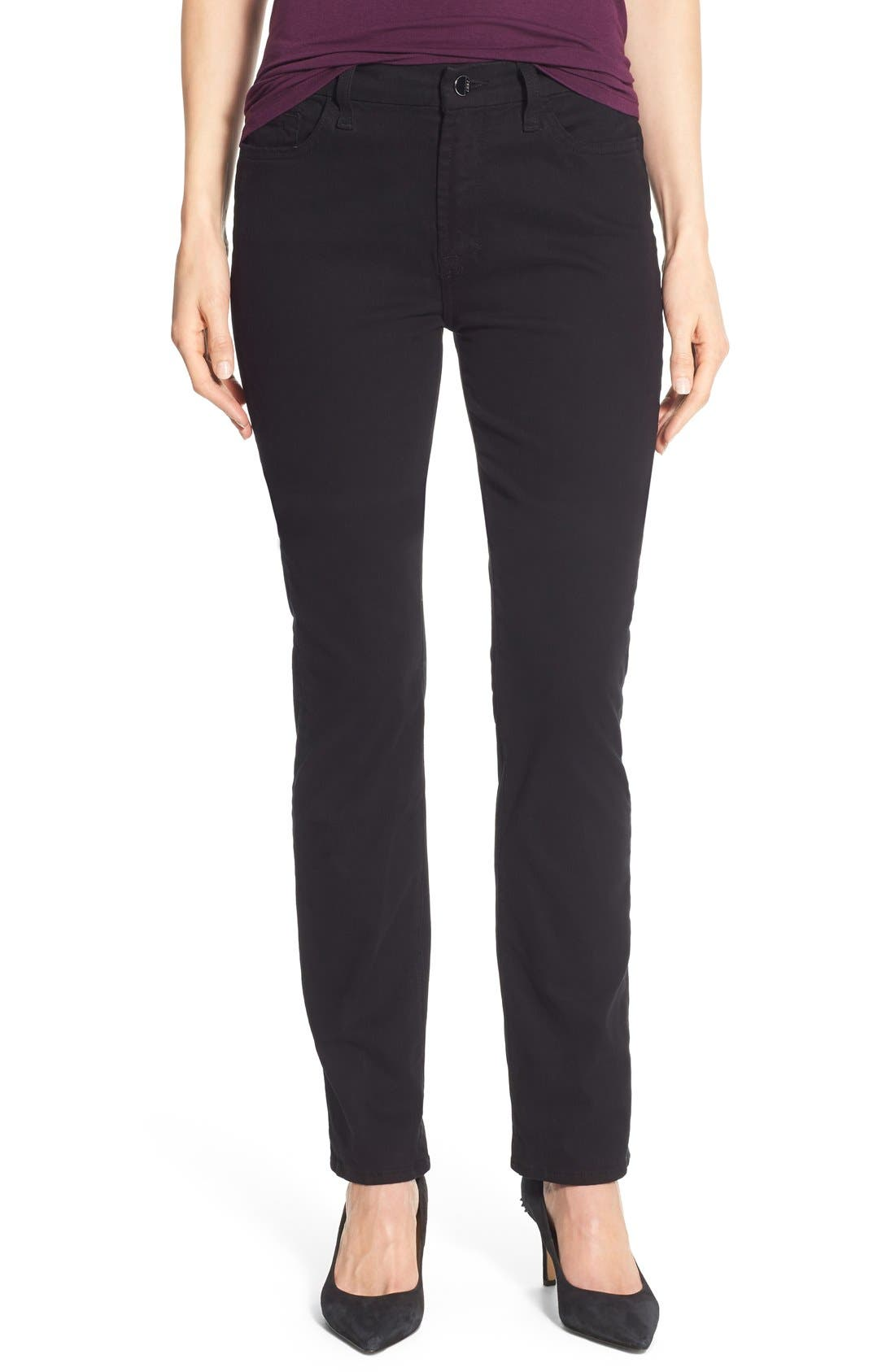 Stretch Sateen Slim Straight Leg Pants,                         Main,                         color, 004