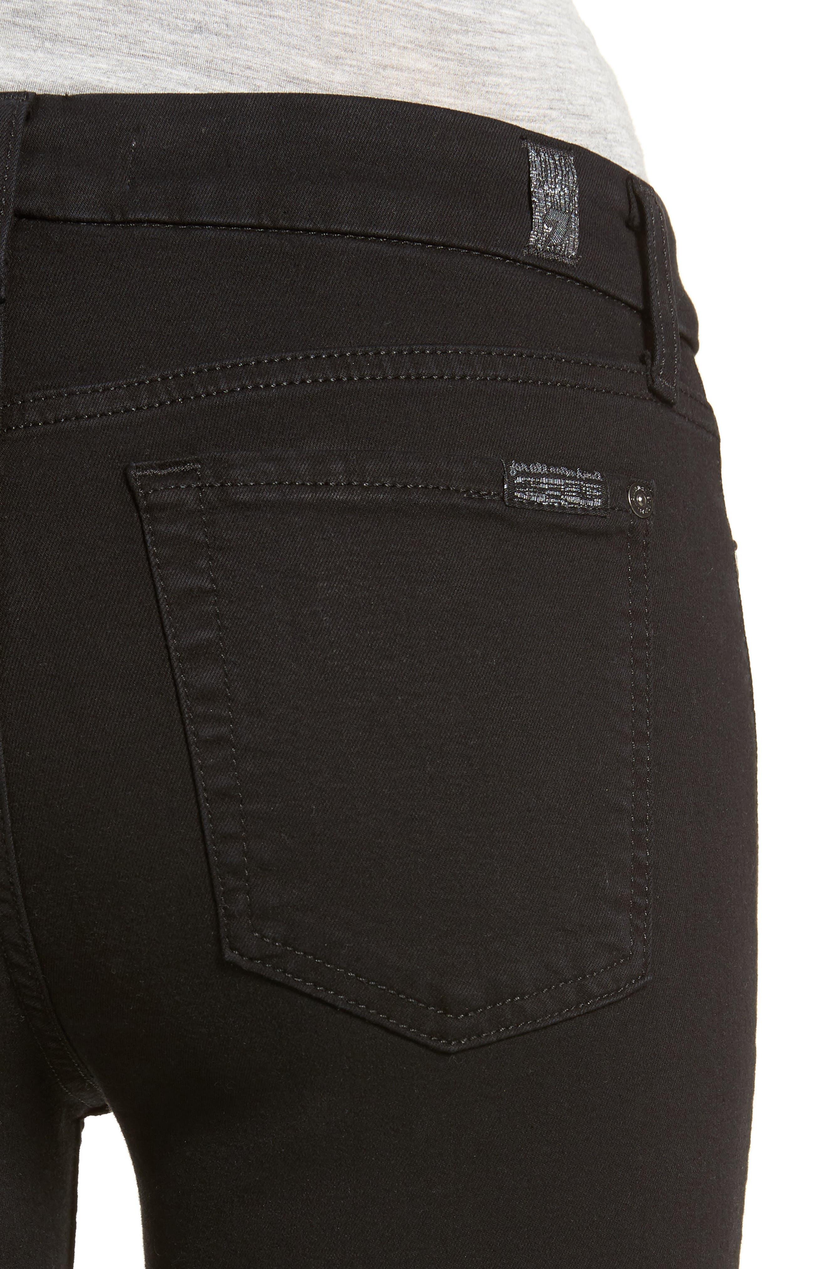 b(air) Ankle Skinny Jeans,                             Alternate thumbnail 4, color,                             BAIR BLACK 2