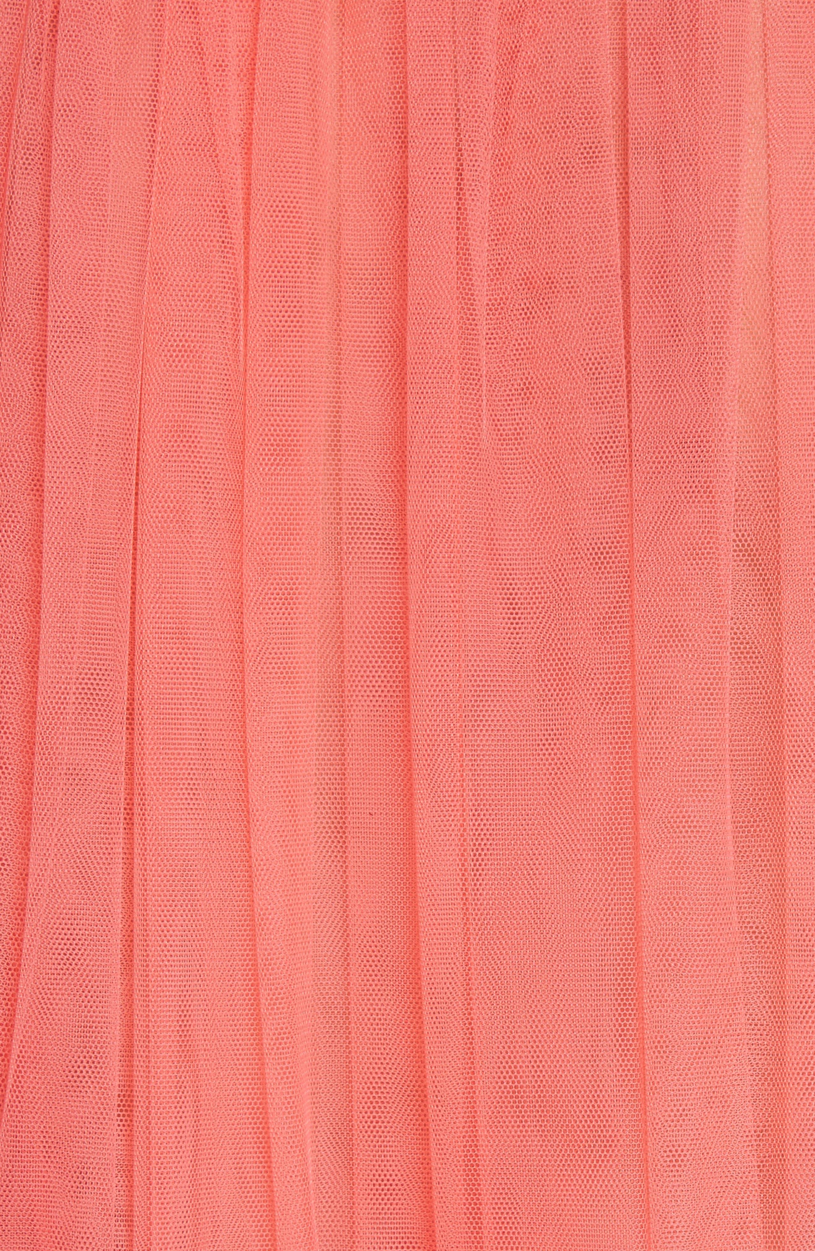 Doris Embroidered Tulle Dress,                             Alternate thumbnail 6, color,                             950