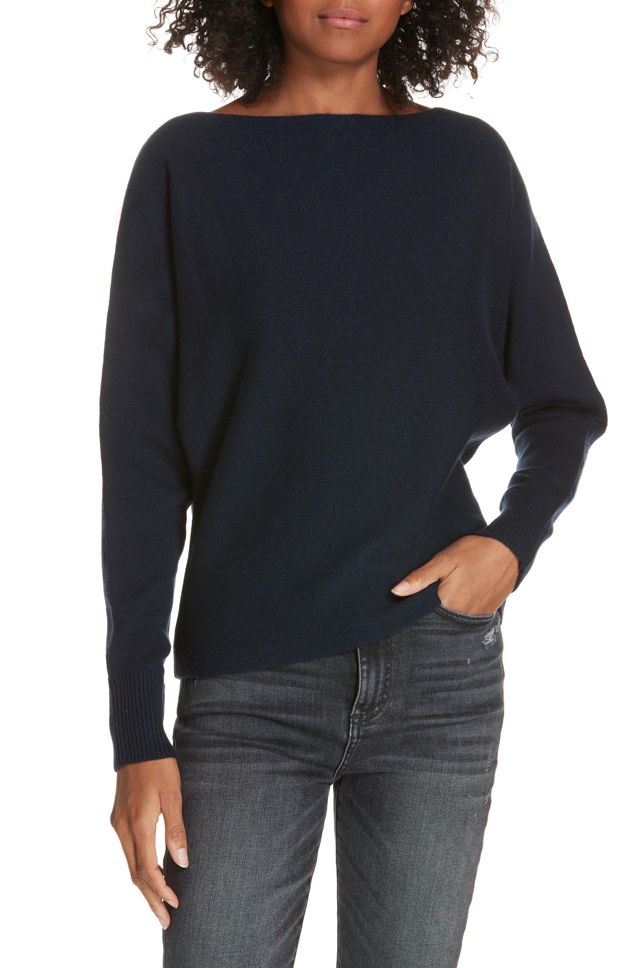 Lewit Wool & Cashmere Dolman Sweater, Blue