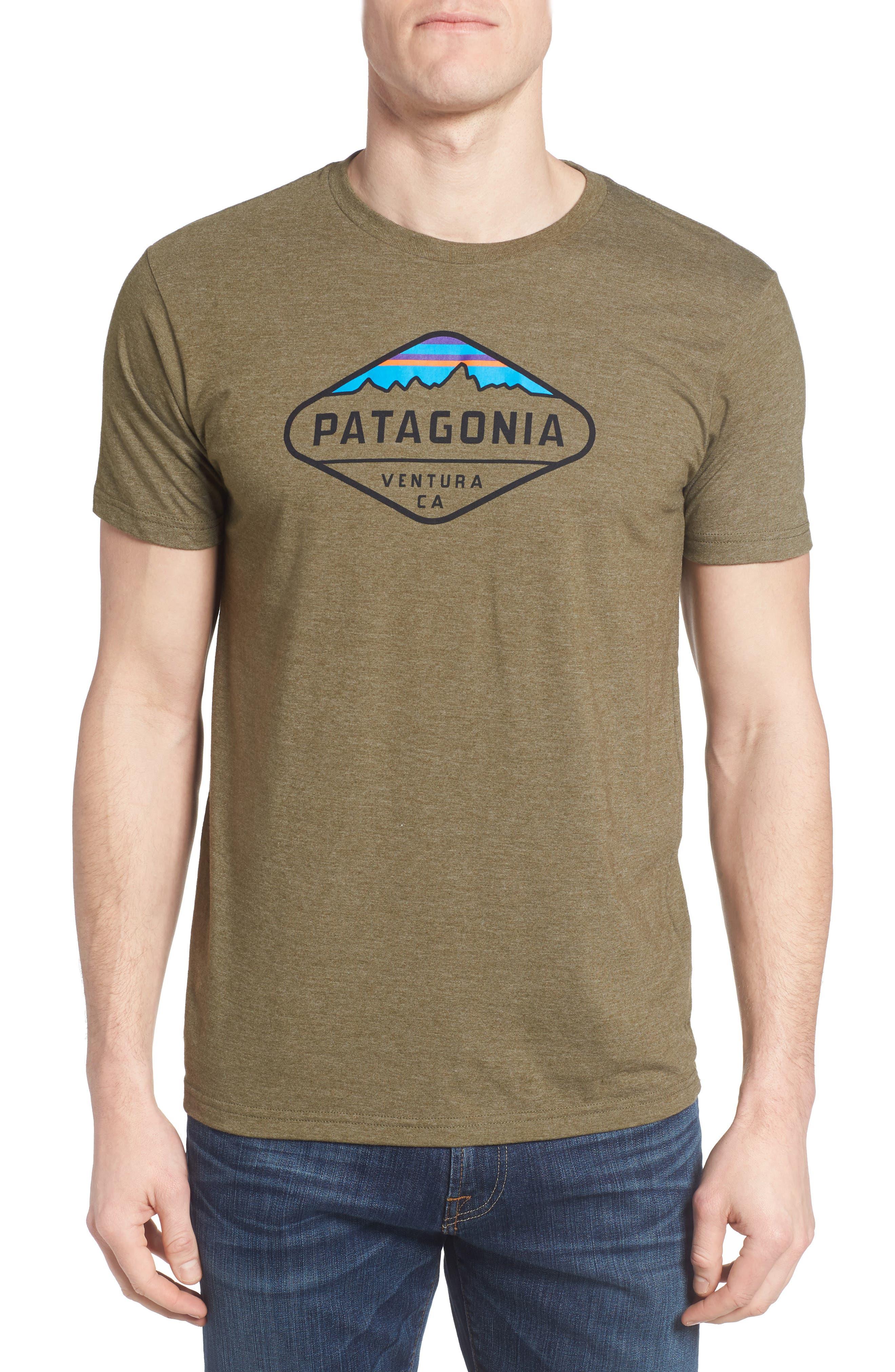 'Fitz Roy Crest' Slim Fit Organic Cotton Blend T-Shirt,                             Main thumbnail 4, color,