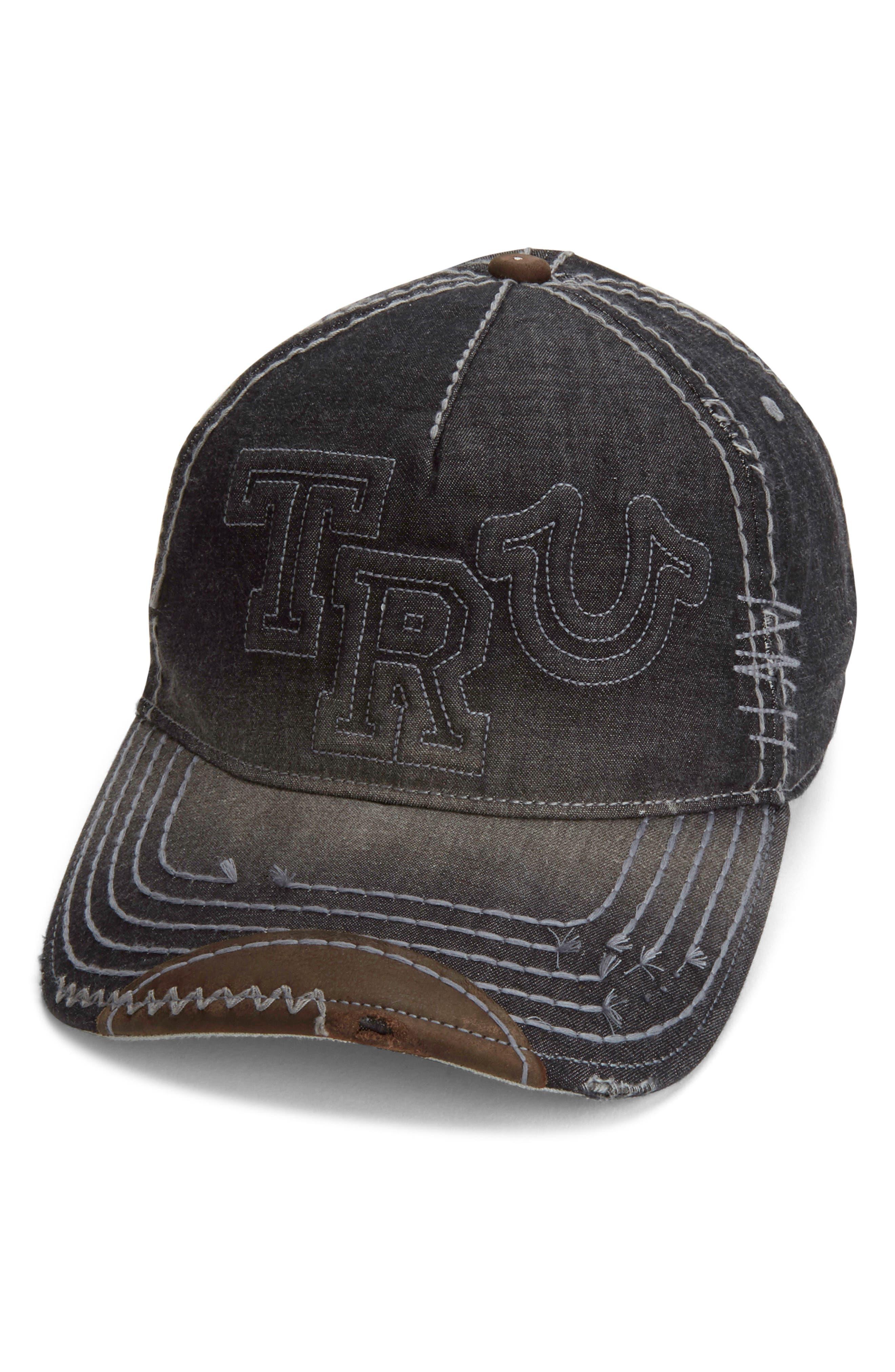 Denim Baseball Cap,                         Main,                         color,