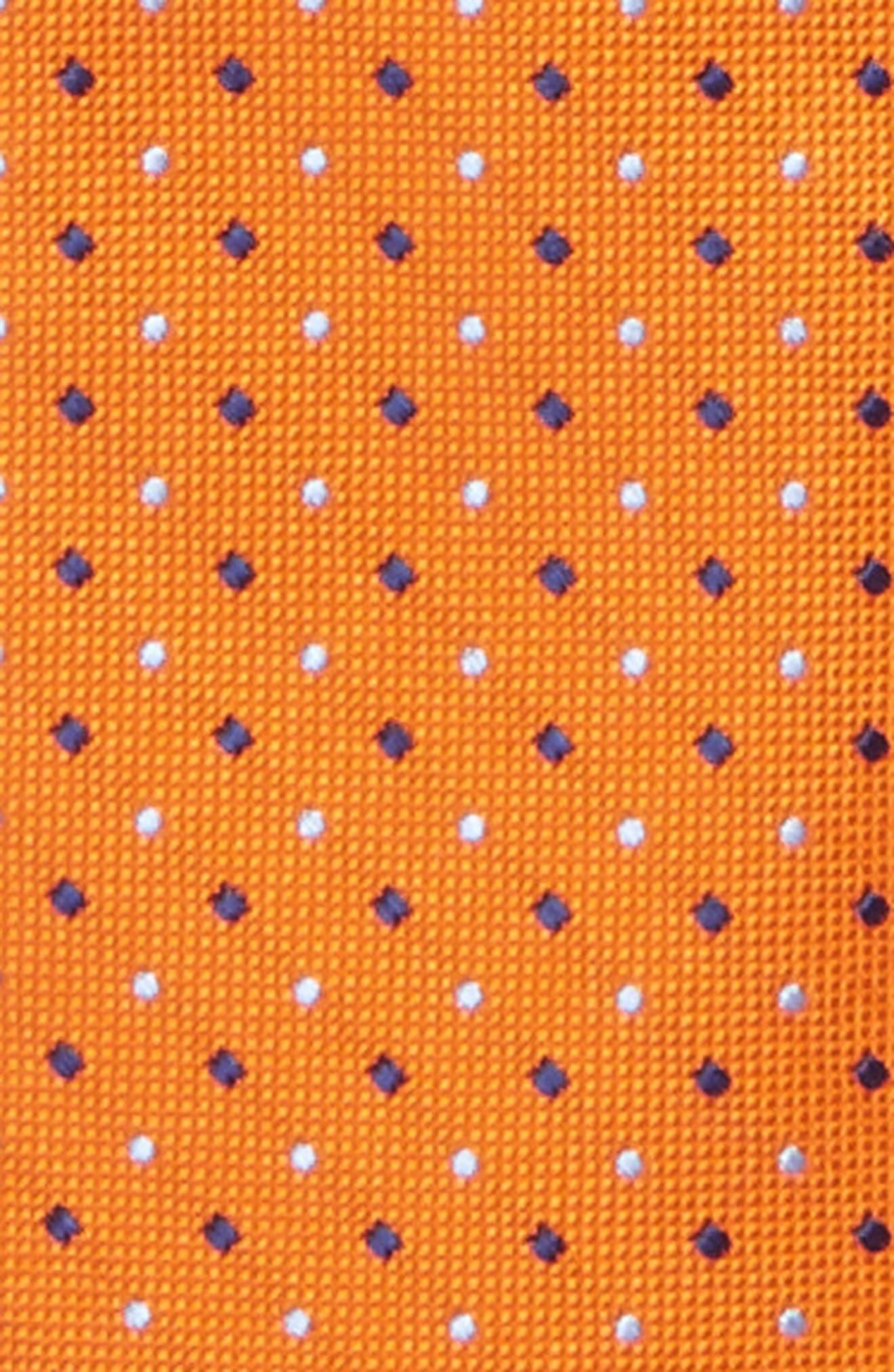 Dot Silk Zip Tie,                             Alternate thumbnail 9, color,
