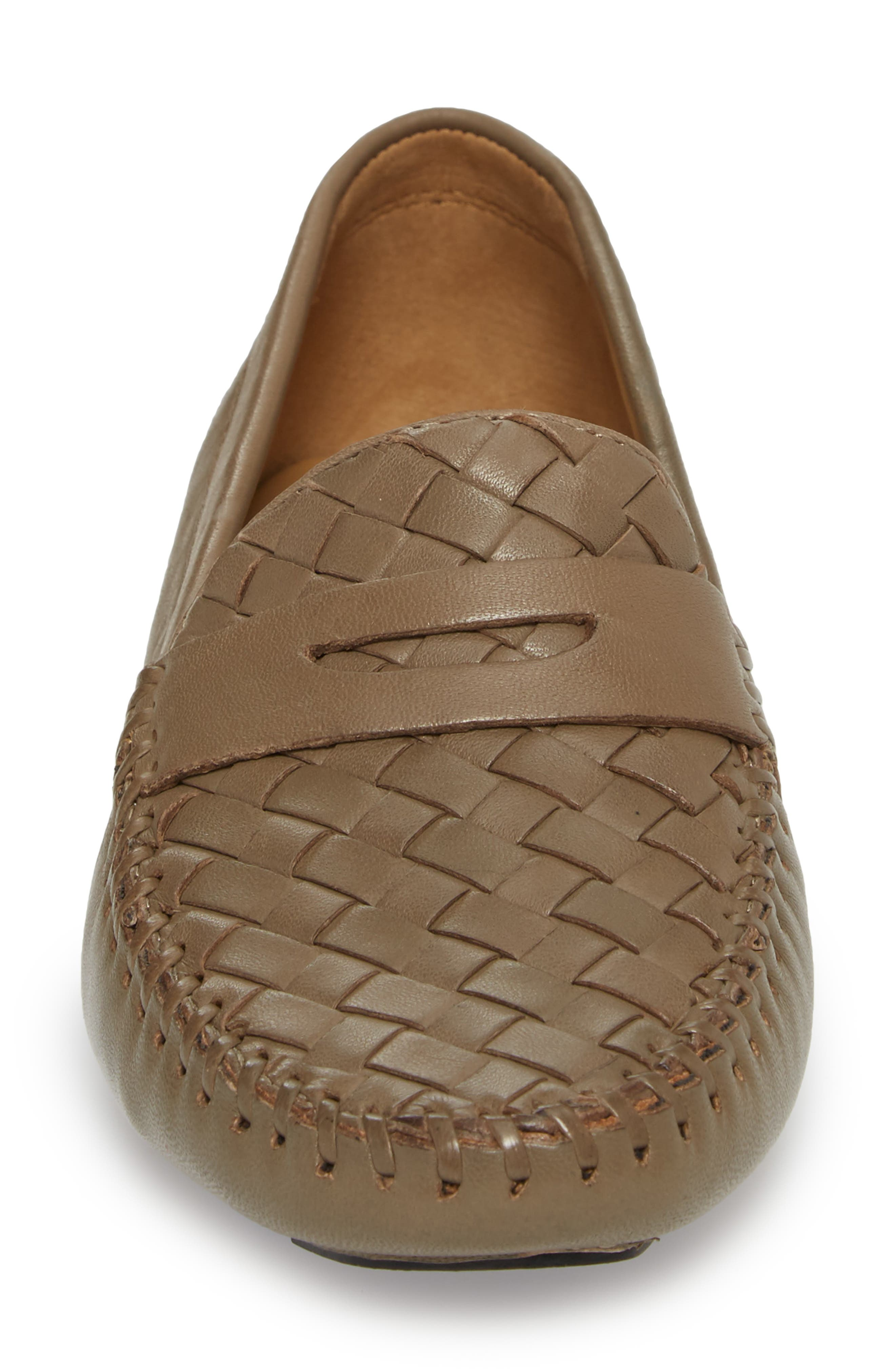 'Petra' Driving Shoe,                             Alternate thumbnail 4, color,                             UMBER LEATHER