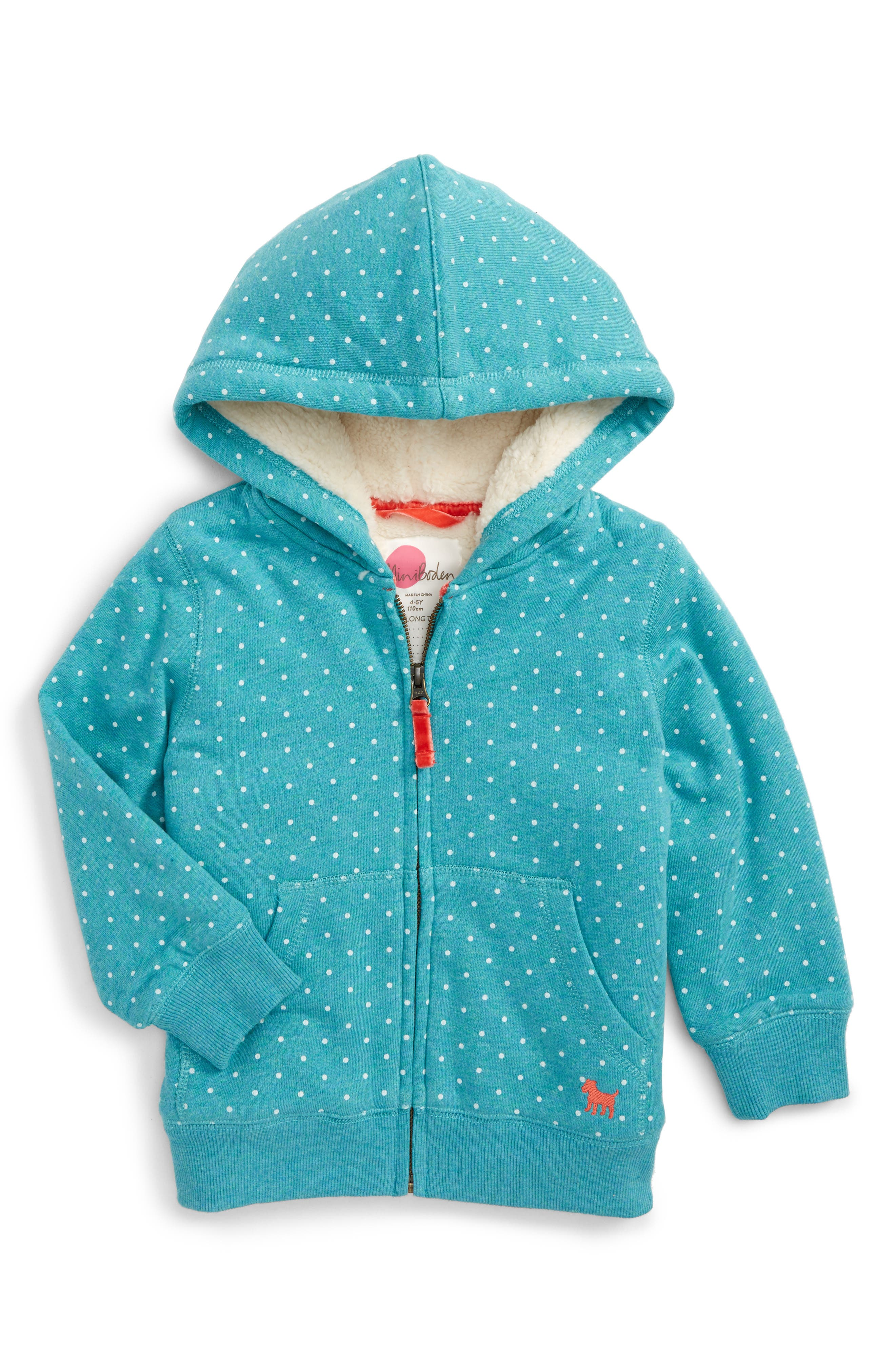 Boden Print Shaggy Lined Hoodie,                             Main thumbnail 3, color,