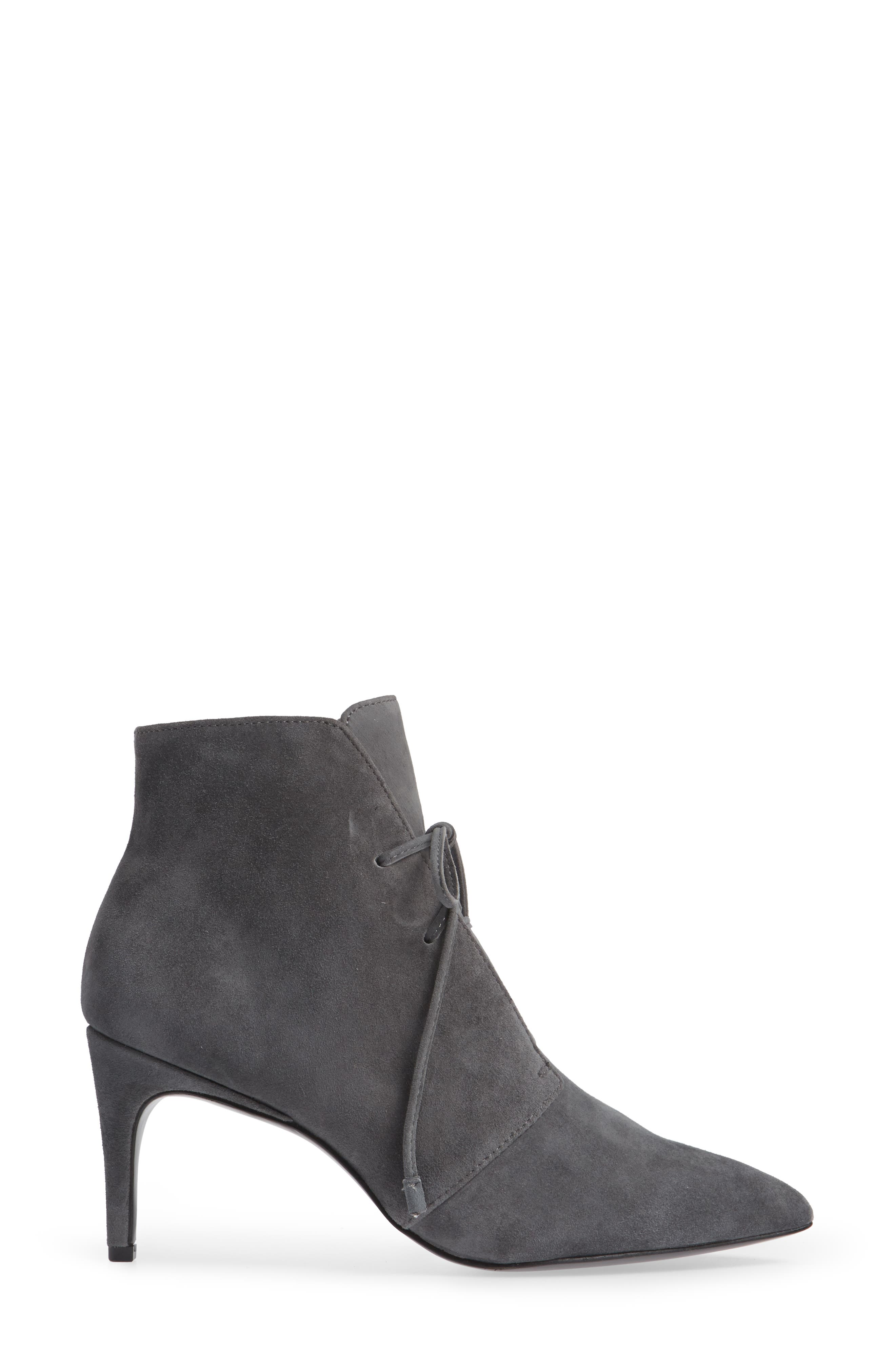 Portis Bootie,                             Alternate thumbnail 3, color,                             CHARCOAL SUEDE