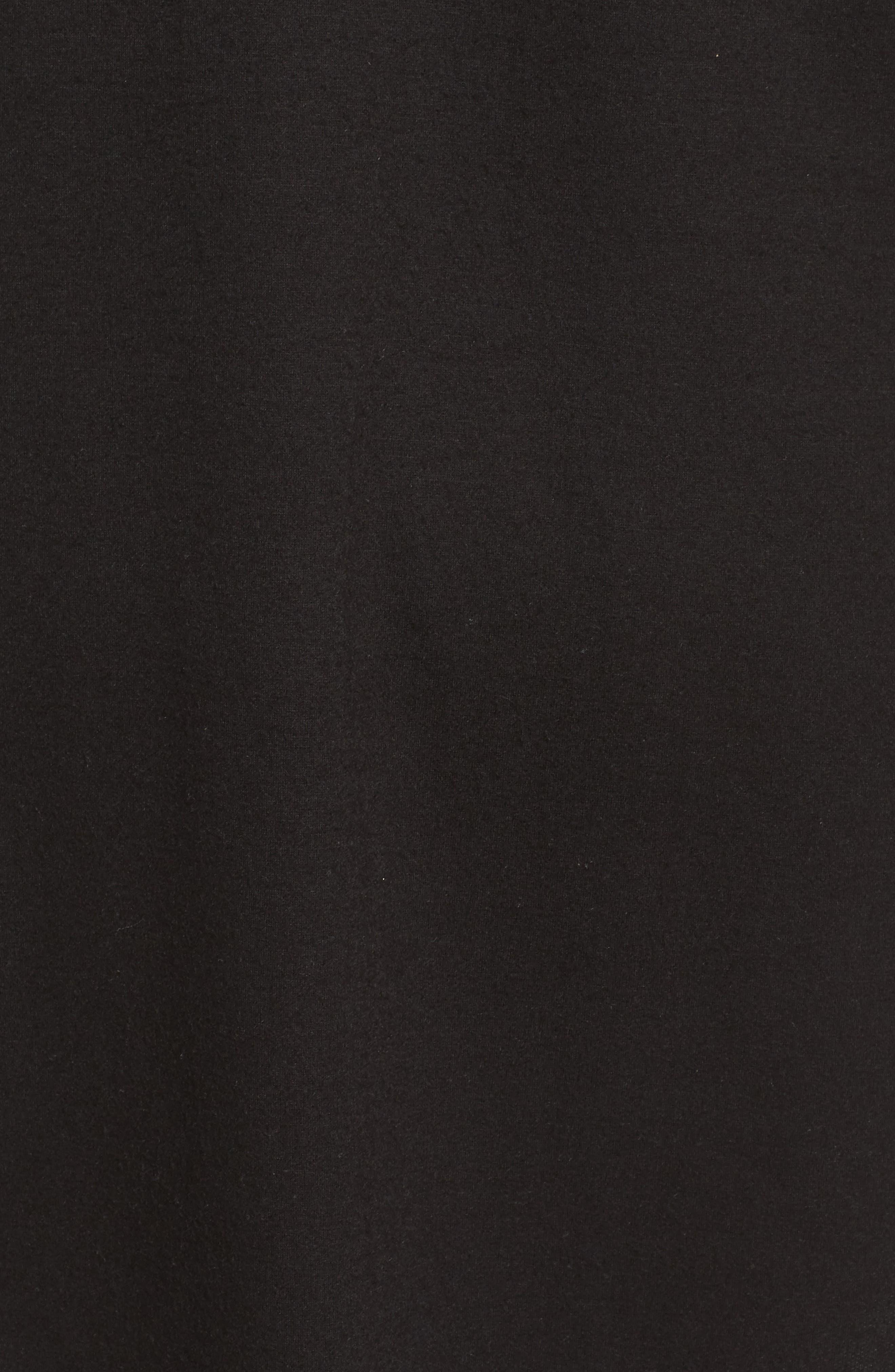 High/Low Long Fleece Cardigan,                             Alternate thumbnail 5, color,                             001