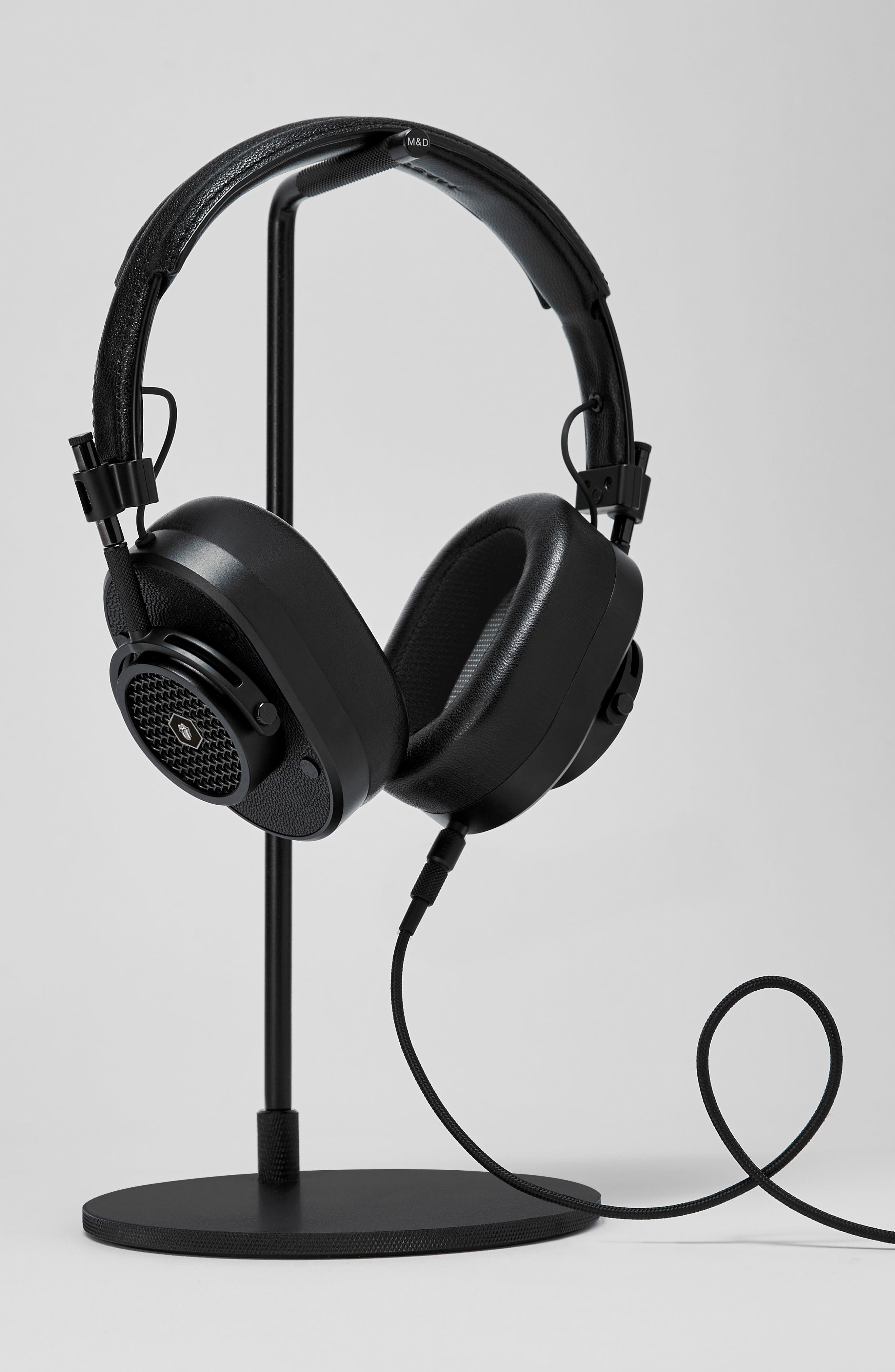 MH40 Leather Over Ear Headphones,                             Alternate thumbnail 2, color,                             ROLLING STONE BLACK