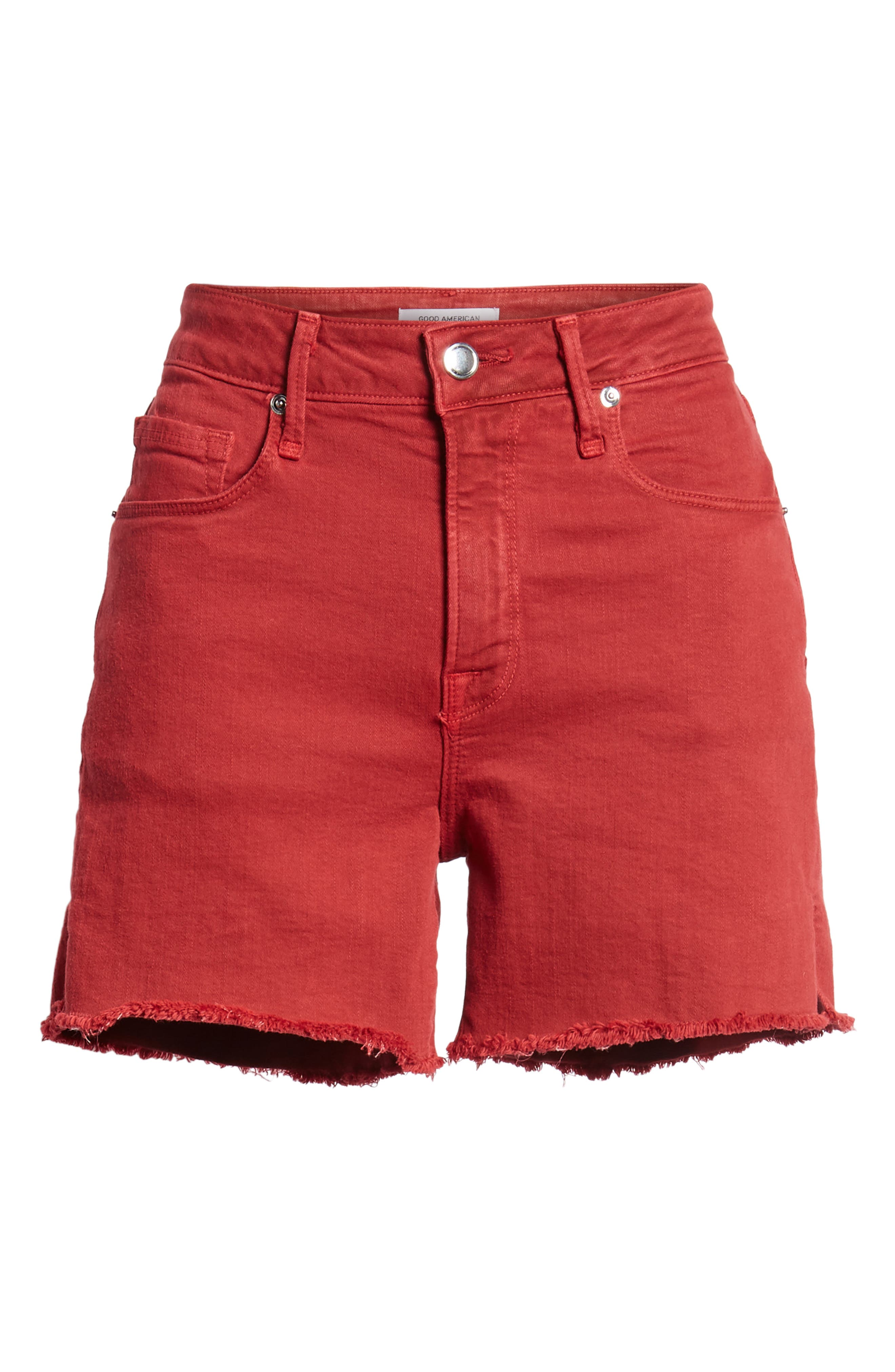 High Waist Cutoff Shorts,                             Alternate thumbnail 7, color,                             601