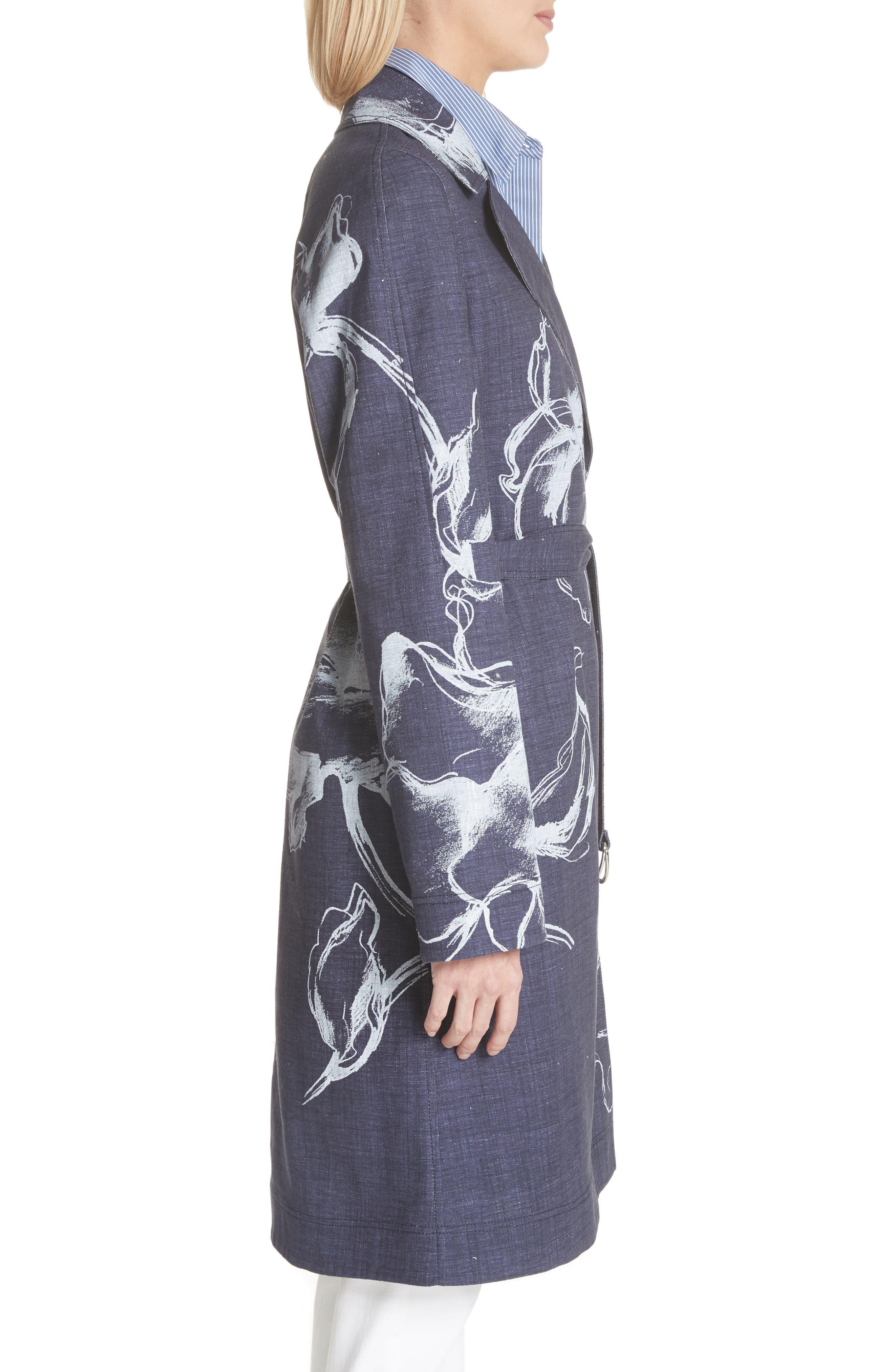 Dina Desert Bloom Trench Coat,                             Alternate thumbnail 3, color,