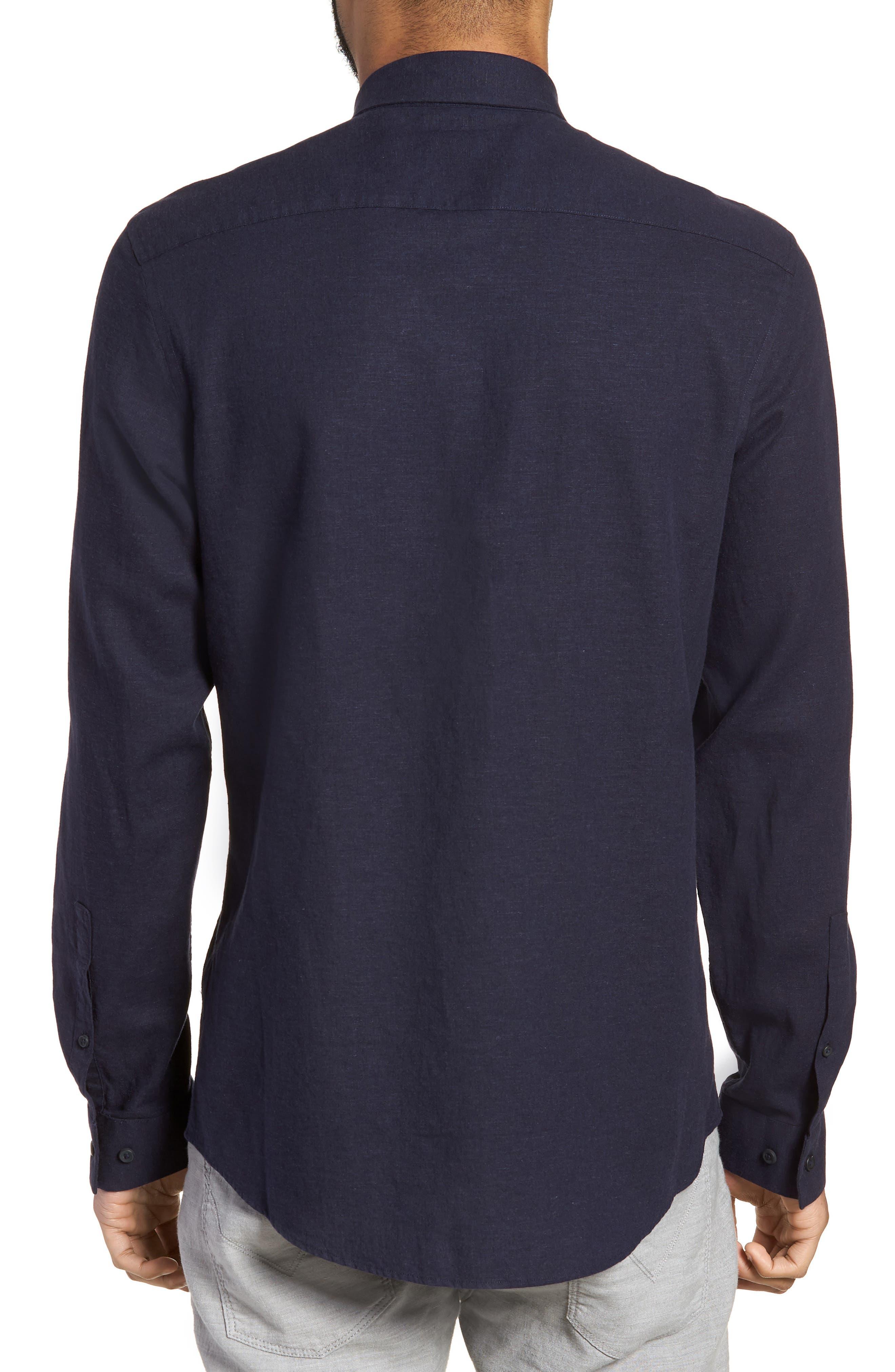 Linen Blend Sport Shirt,                             Alternate thumbnail 6, color,