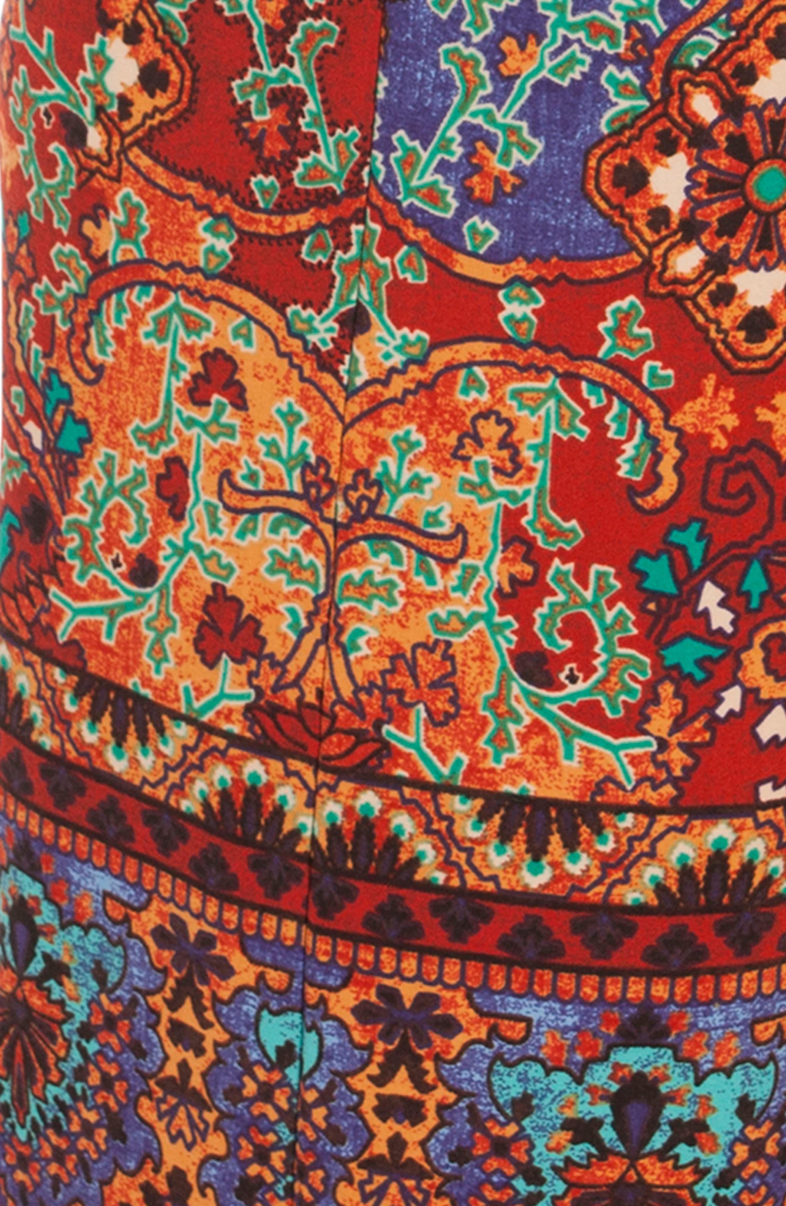 Mosaic Print Pants,                             Alternate thumbnail 4, color,                             800