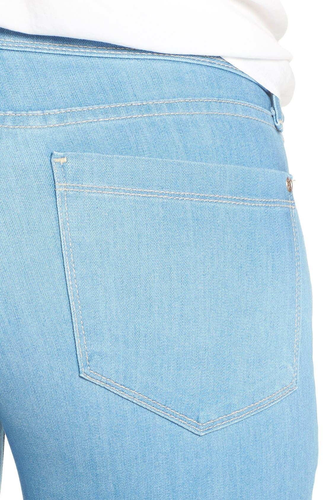 'Barbara' Stretch Bootcut Jeans,                             Alternate thumbnail 4, color,