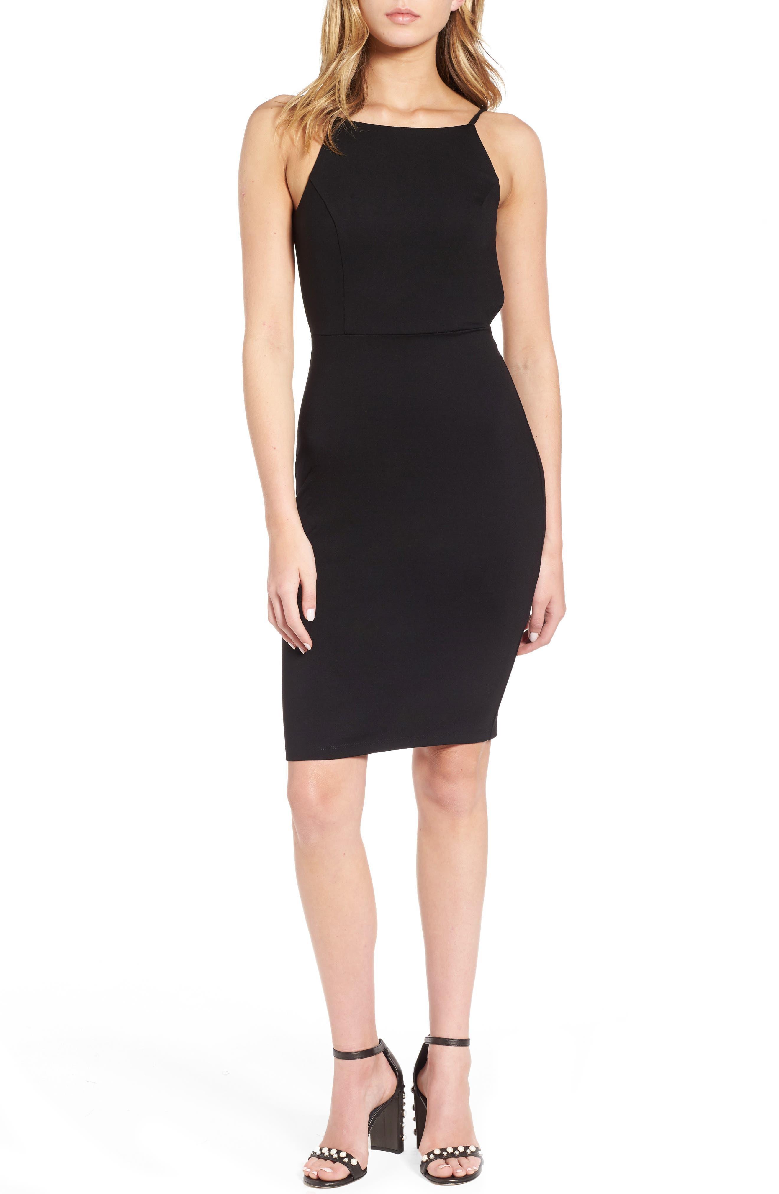 Open Back Body-Con Dress,                         Main,                         color, 001