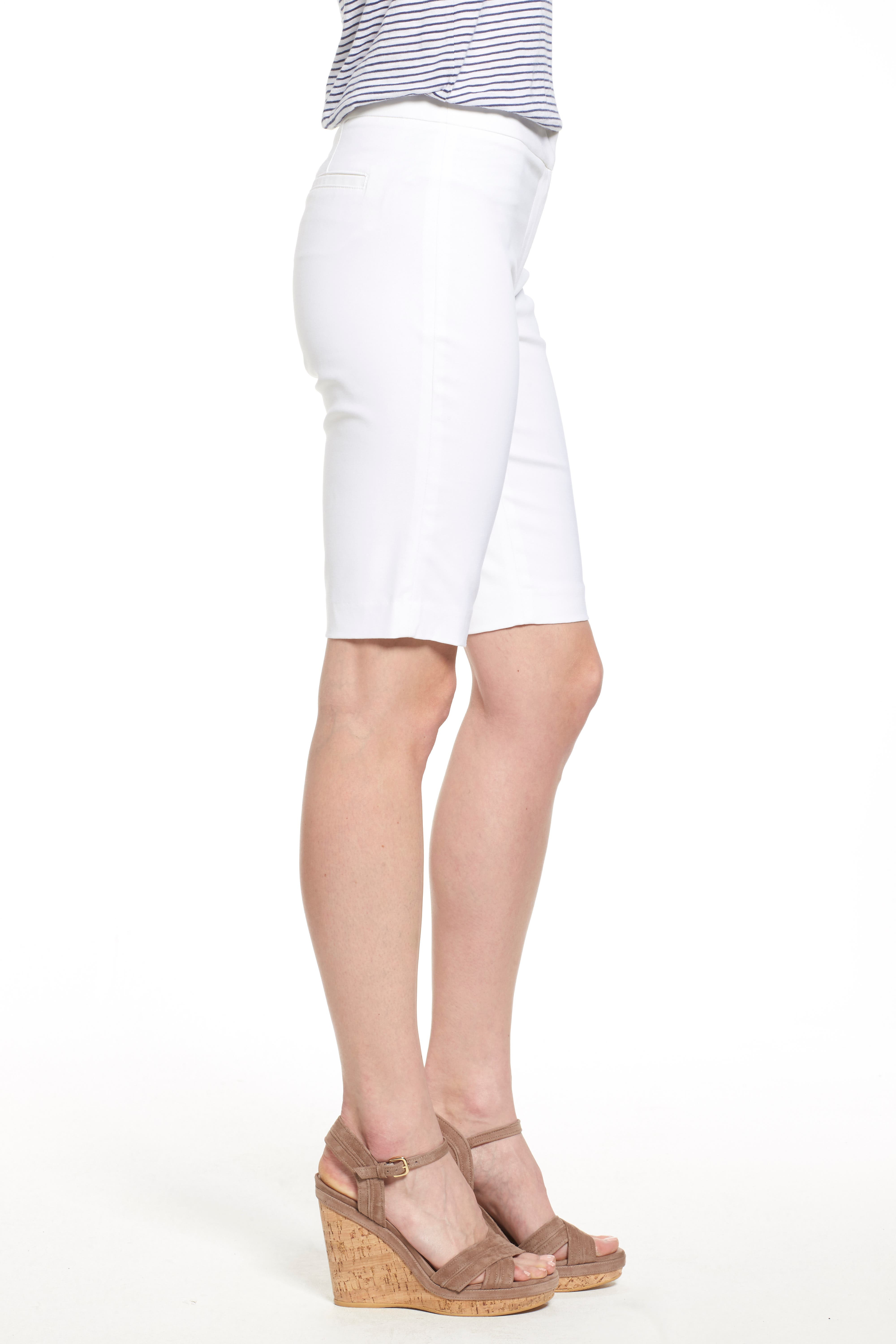 'The Perfect' Stretch Woven Trouser Shorts,                             Alternate thumbnail 2, color,                             PAPER WHITE