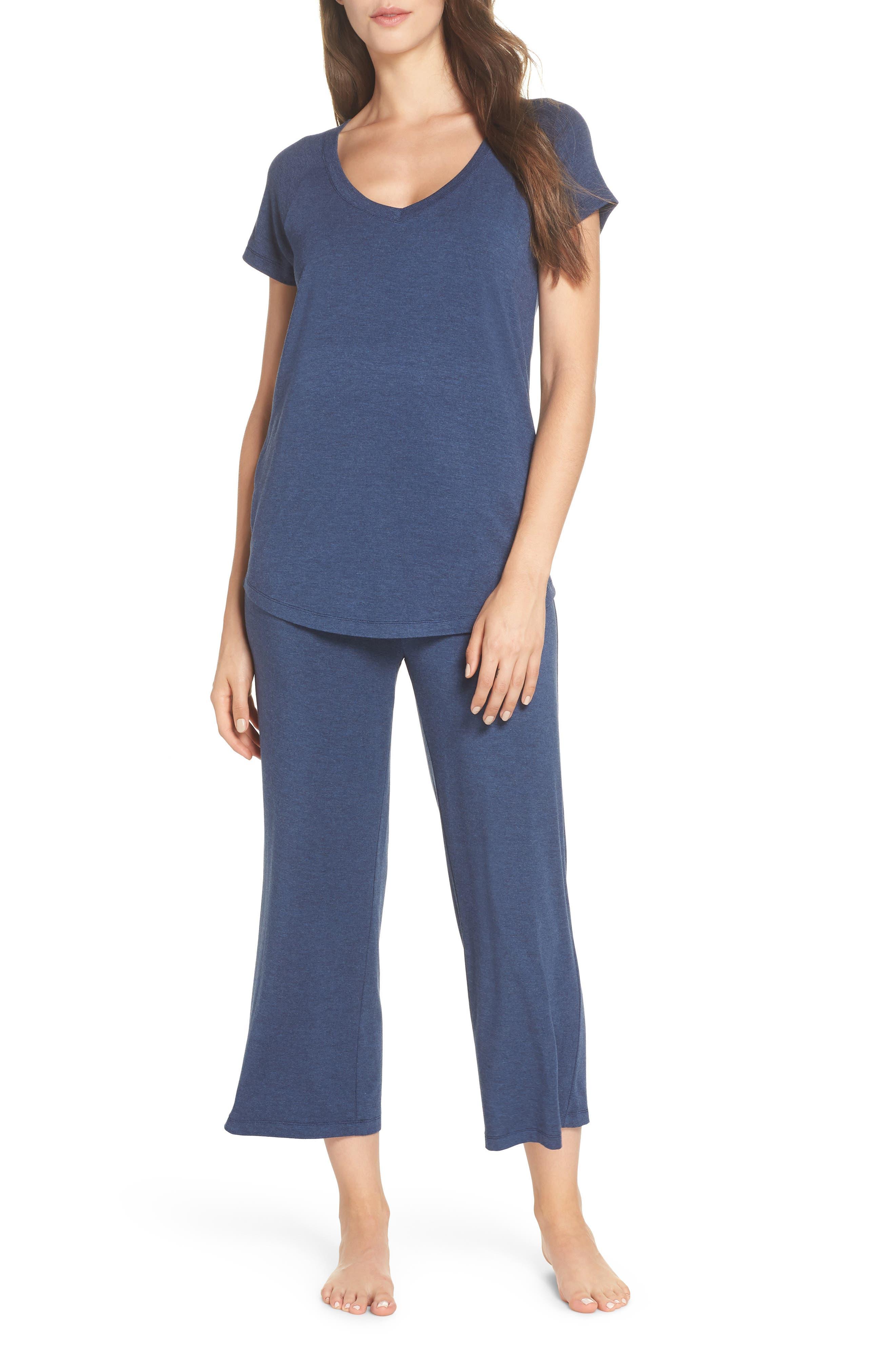 Nordstrom Lingerie Breathe Pajamas, Blue