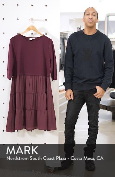 Mixed Media Ruffle Detail Swing Dress, sales video thumbnail