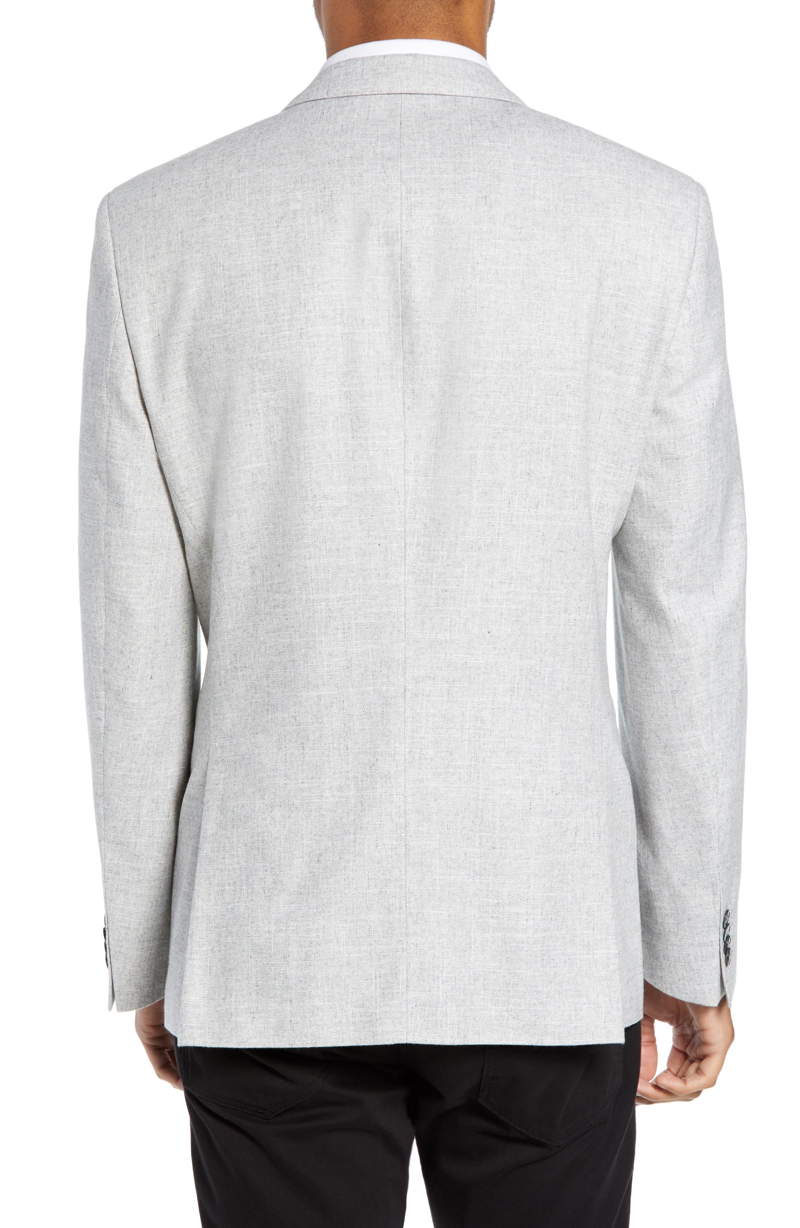 Hutsons Trim Fit Wool Blend Blazer,                             Alternate thumbnail 2, color,                             SILVER