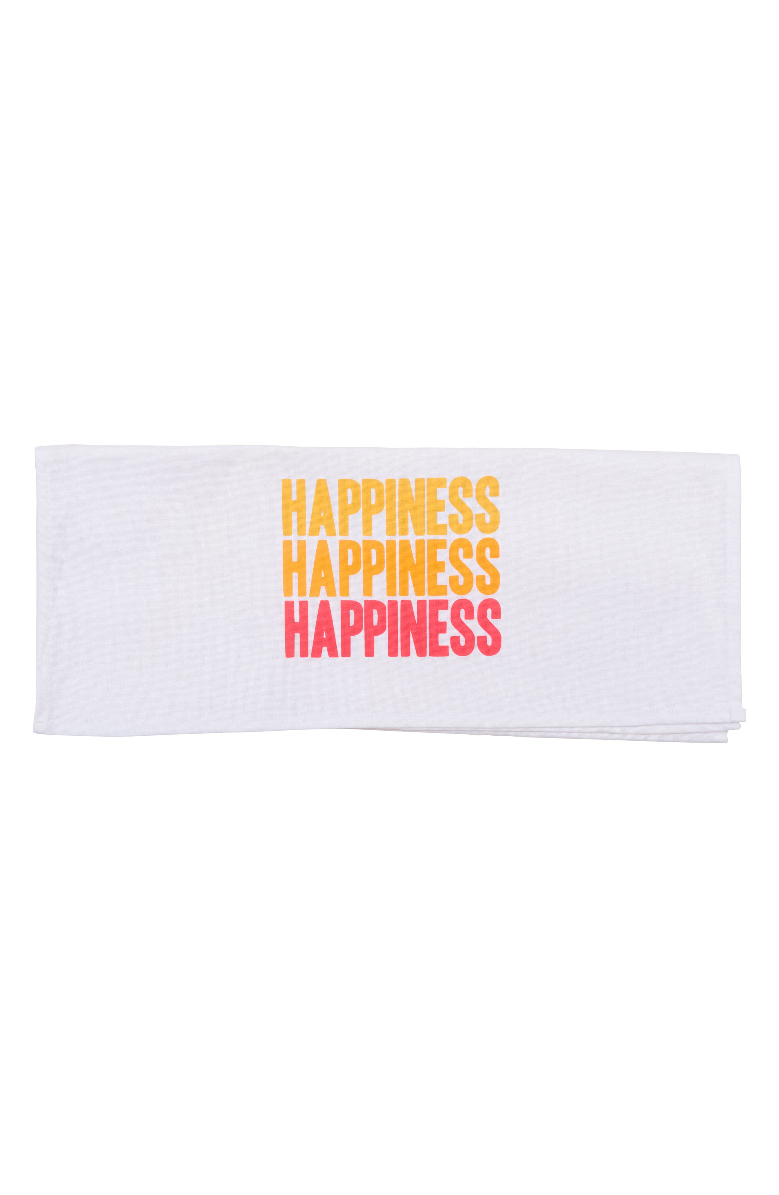 Peace Love Happiness Set of 3 Tea Towels,                             Alternate thumbnail 6, color,                             100