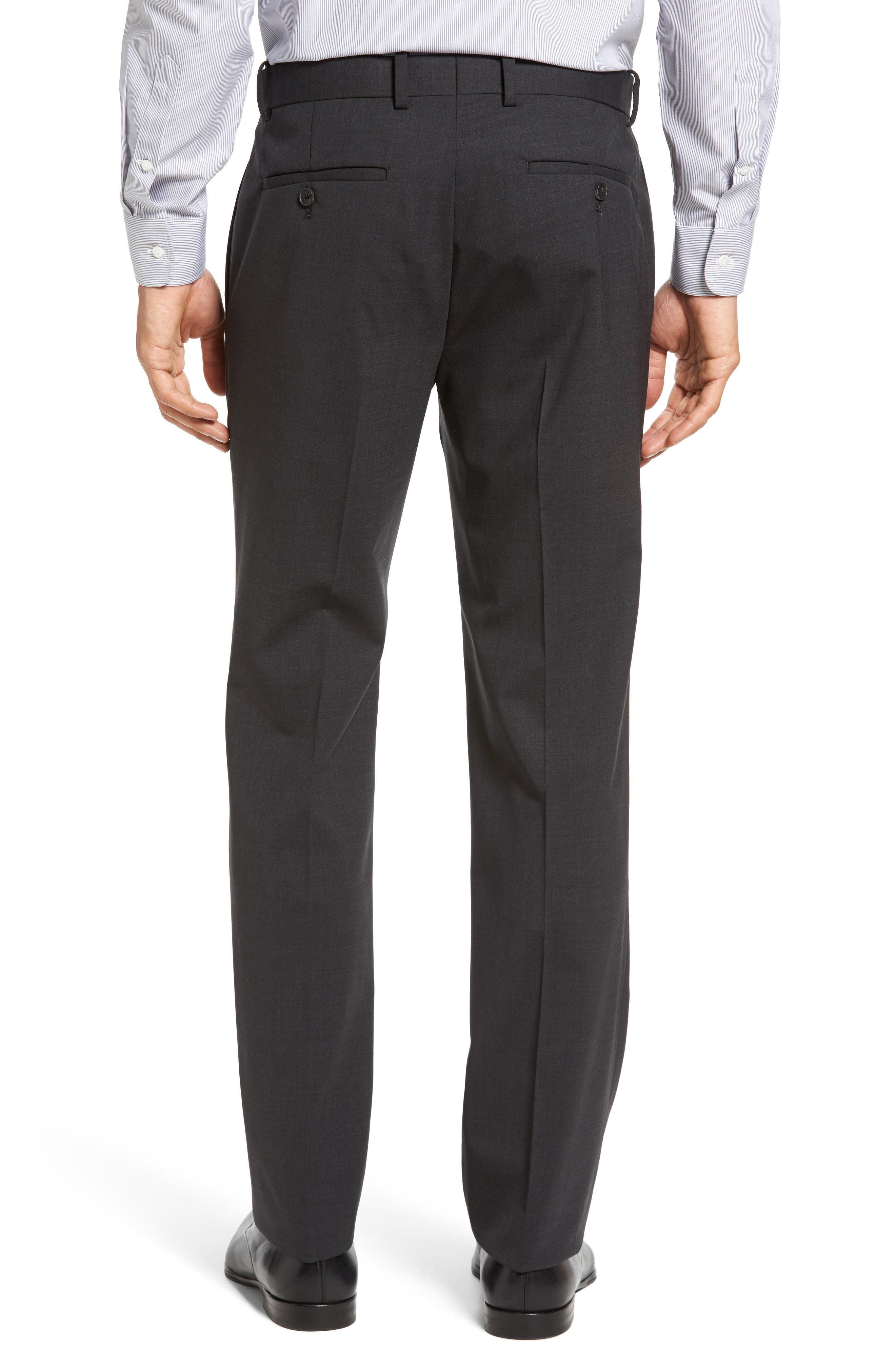 Marlo New Tailor 2 Flat Front Solid Stretch Wool Trousers,                             Alternate thumbnail 3, color,                             029