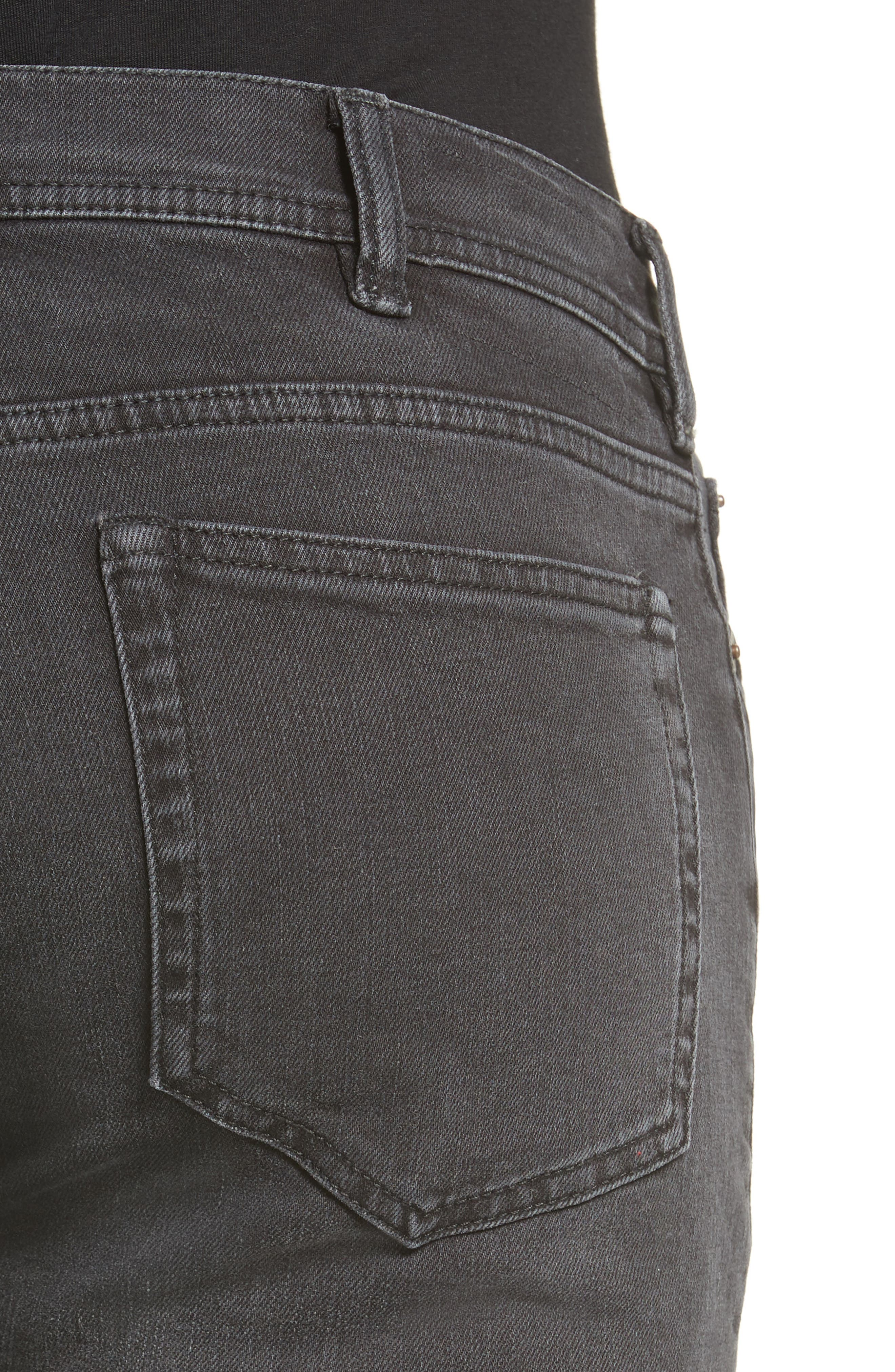 North Skinny Fit Jeans,                             Alternate thumbnail 4, color,                             USED BLACK