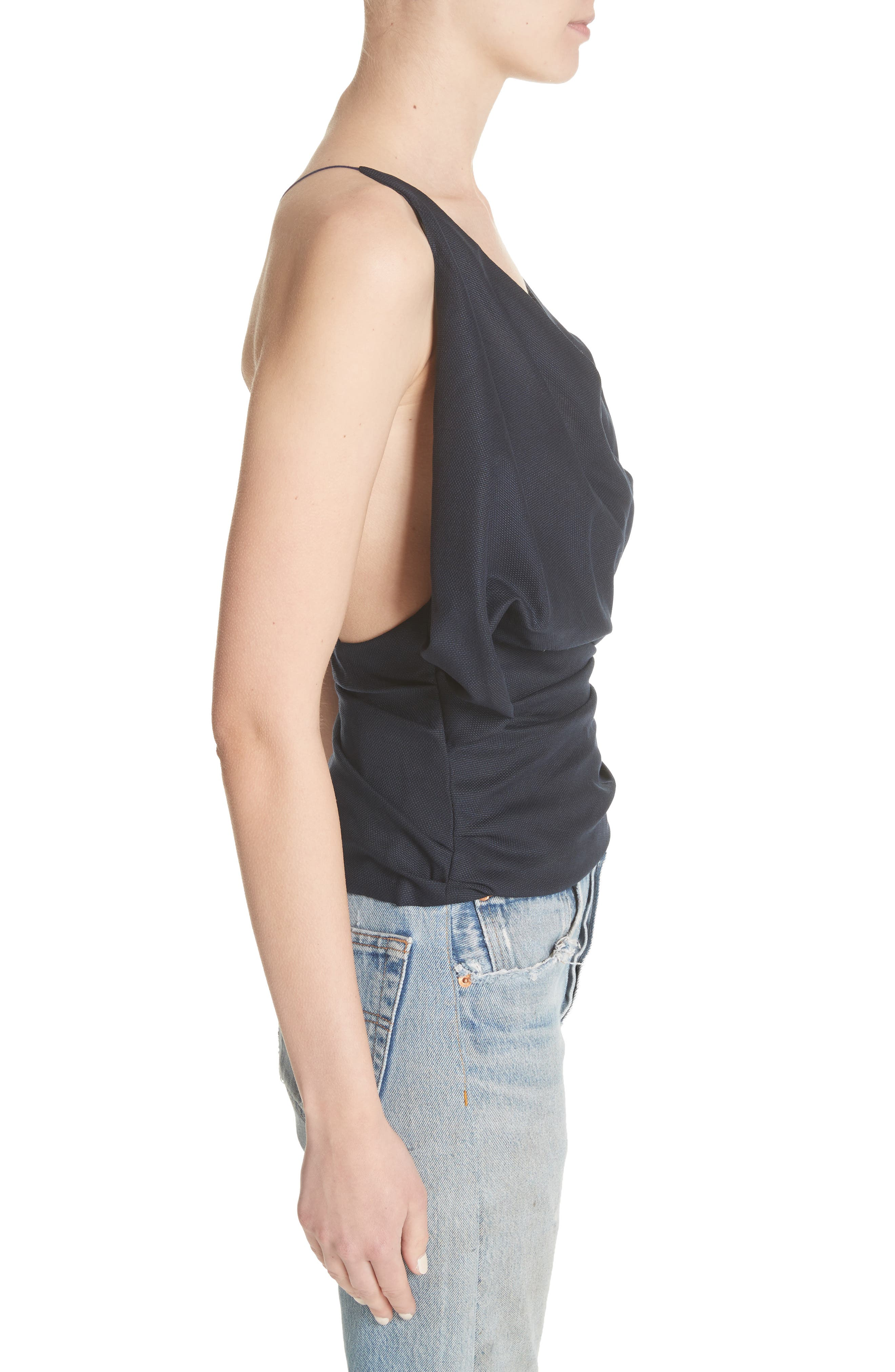 Le Top Sao Draped Wool Top,                             Alternate thumbnail 3, color,                             400
