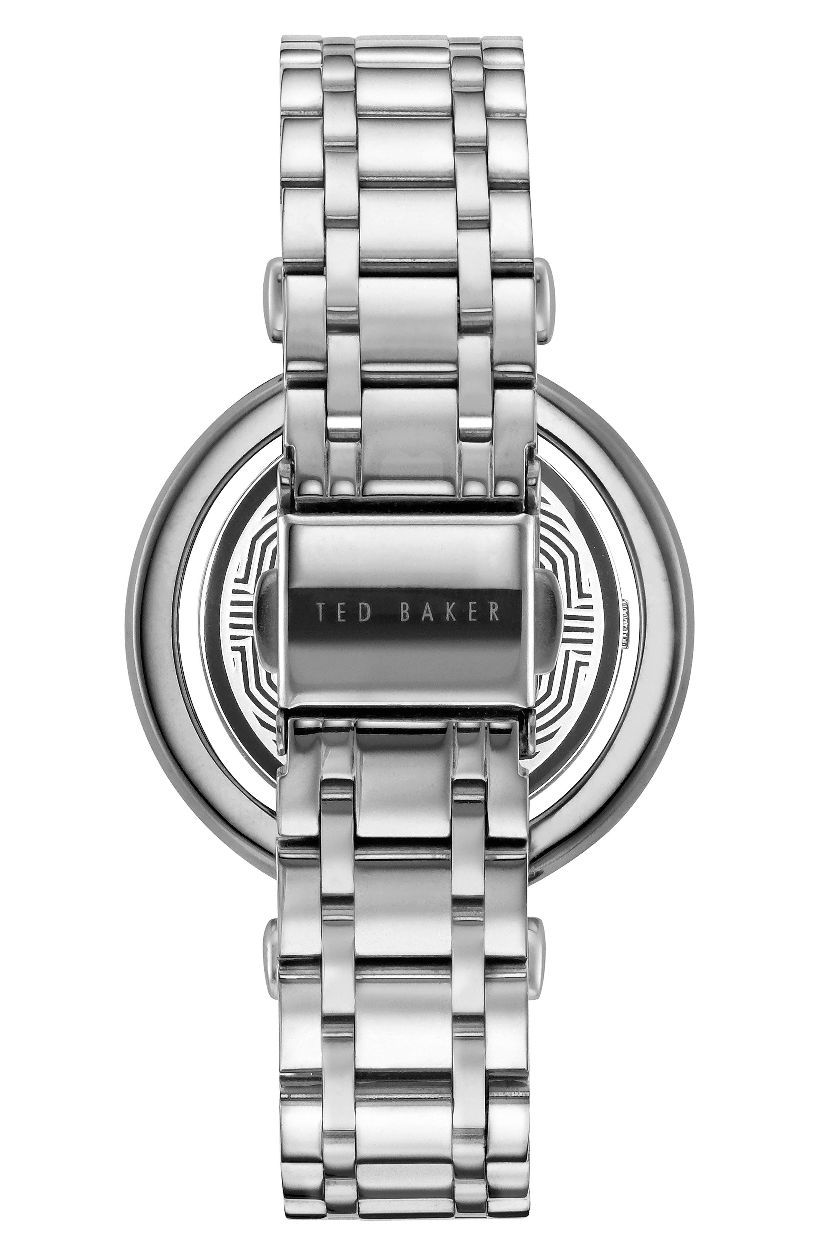 Brooke Slim Bracelet Watch, 34mm,                             Alternate thumbnail 2, color,                             SILVER