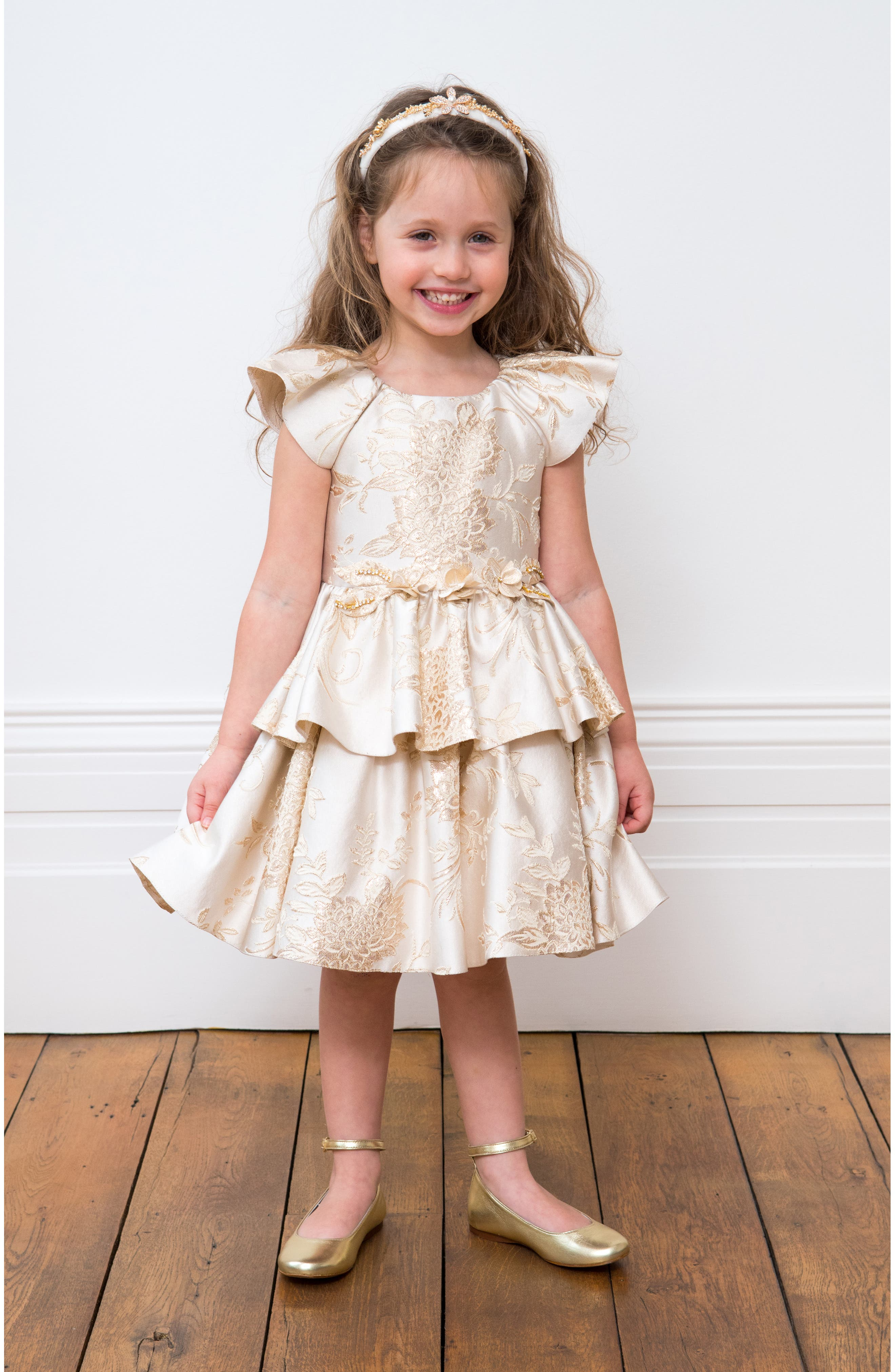 Brocade Dress,                             Alternate thumbnail 6, color,                             900