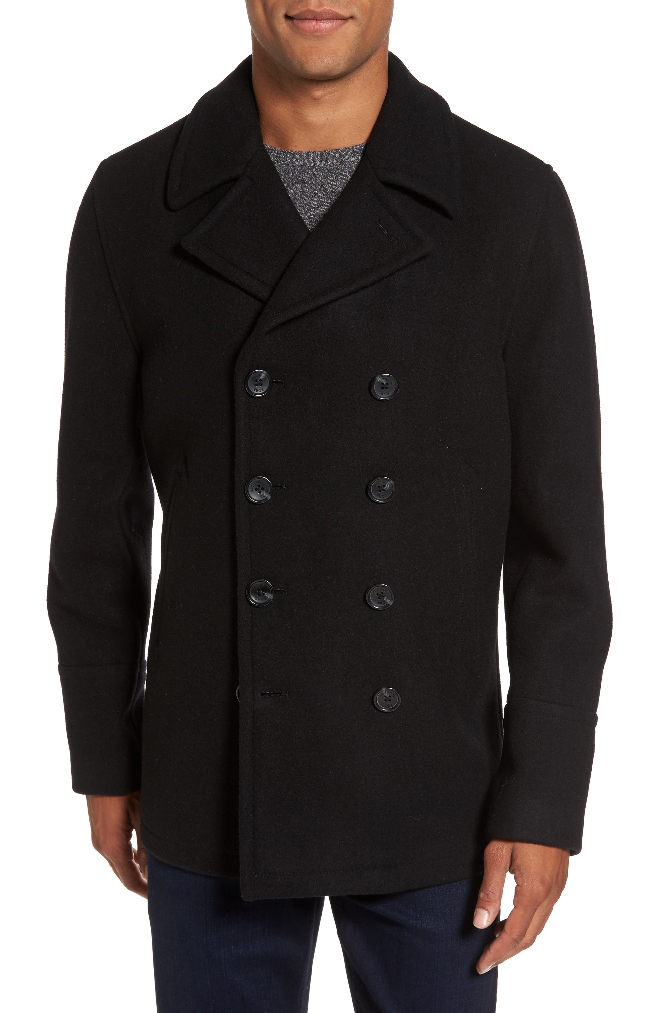 Wool Blend Double Breasted Peacoat,                             Alternate thumbnail 94, color,
