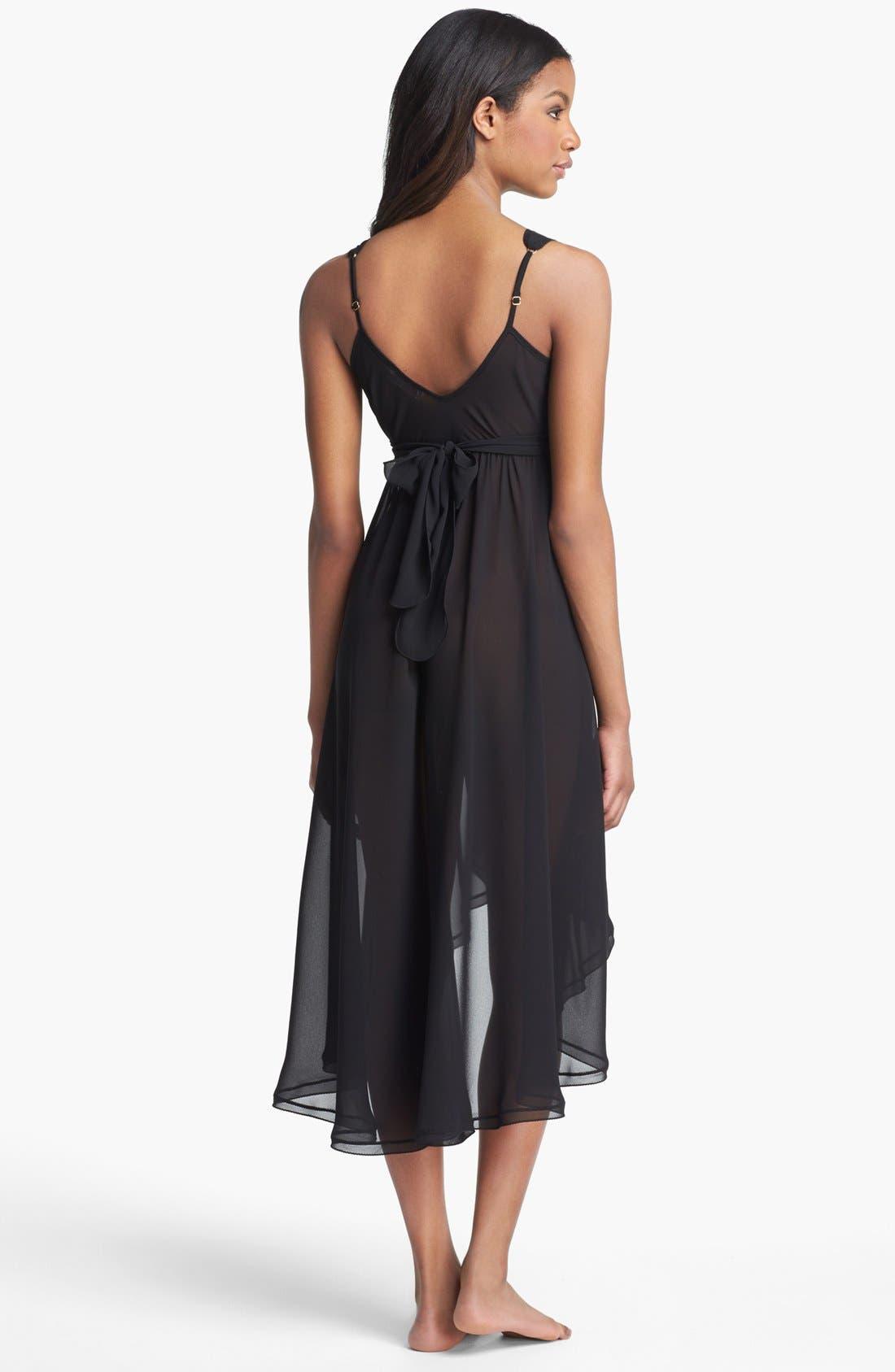 'Lucrezia' Sheer Nightgown,                             Alternate thumbnail 2, color,                             001