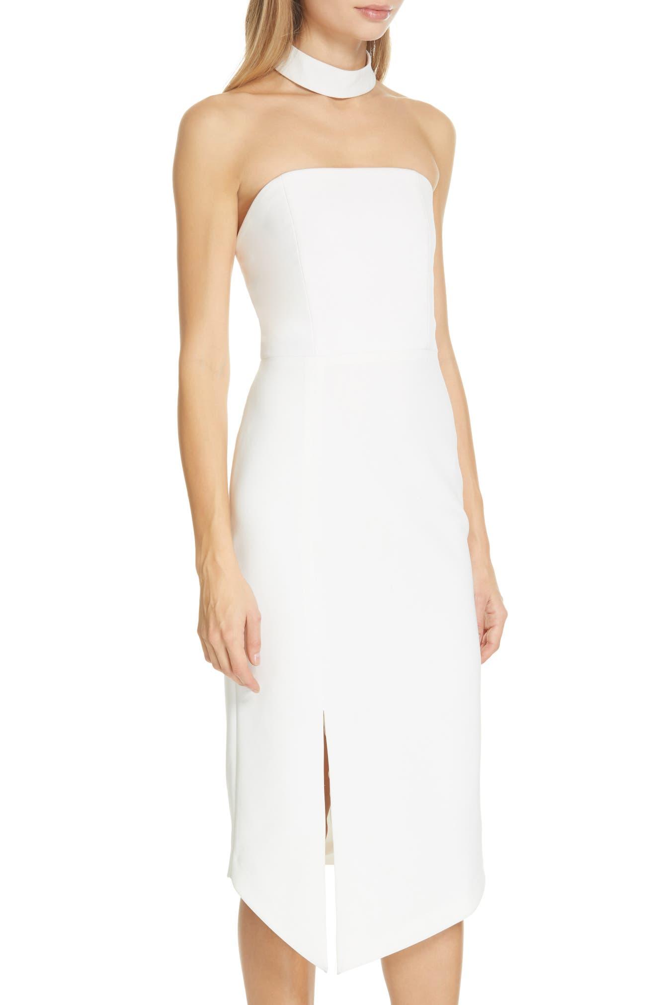 Alice + Olivia Sia Strapless Choker Collar Dress  58d9b0dc3