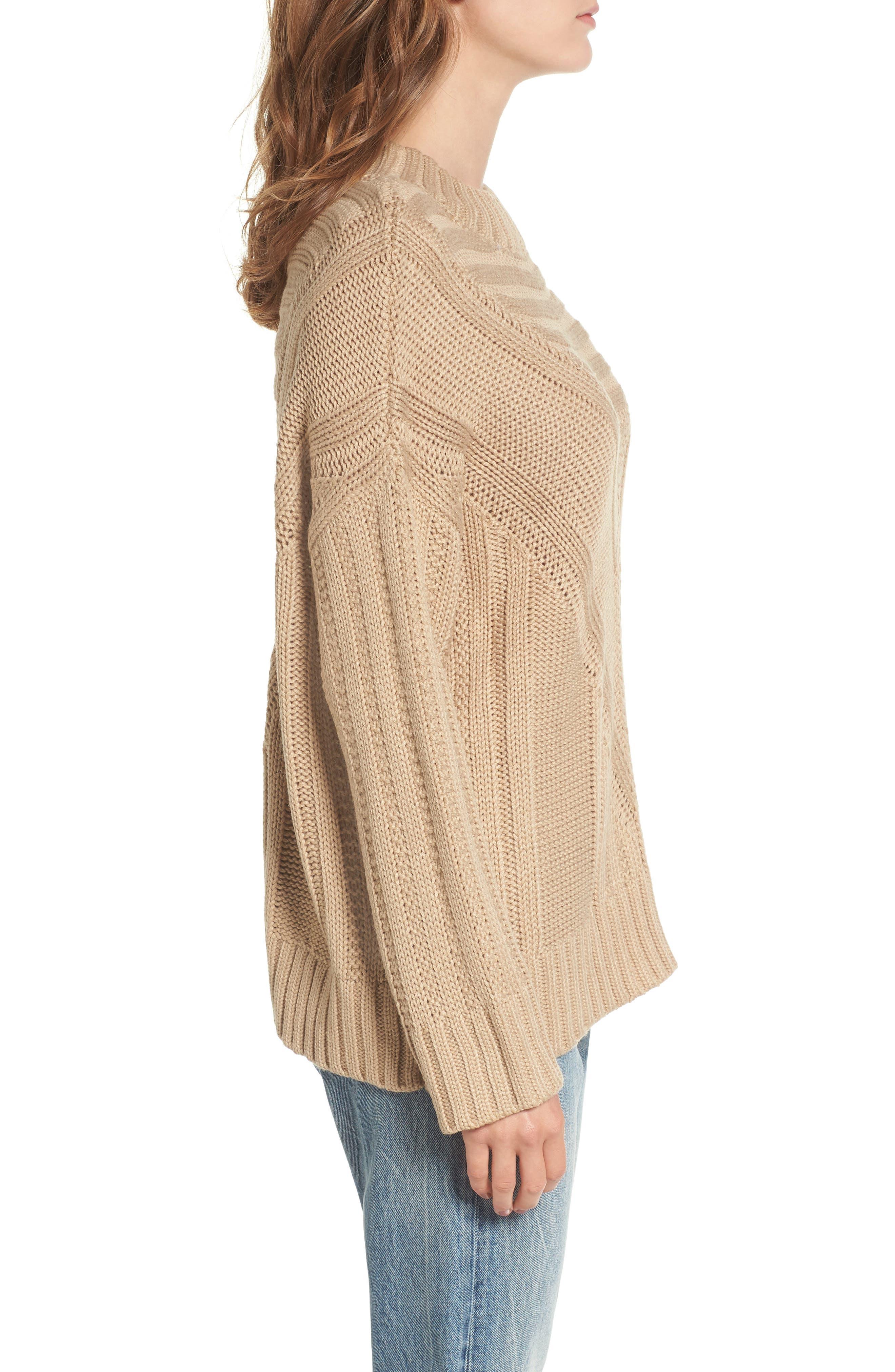Oversize Drop Shoulder Sweater,                             Alternate thumbnail 3, color,                             250