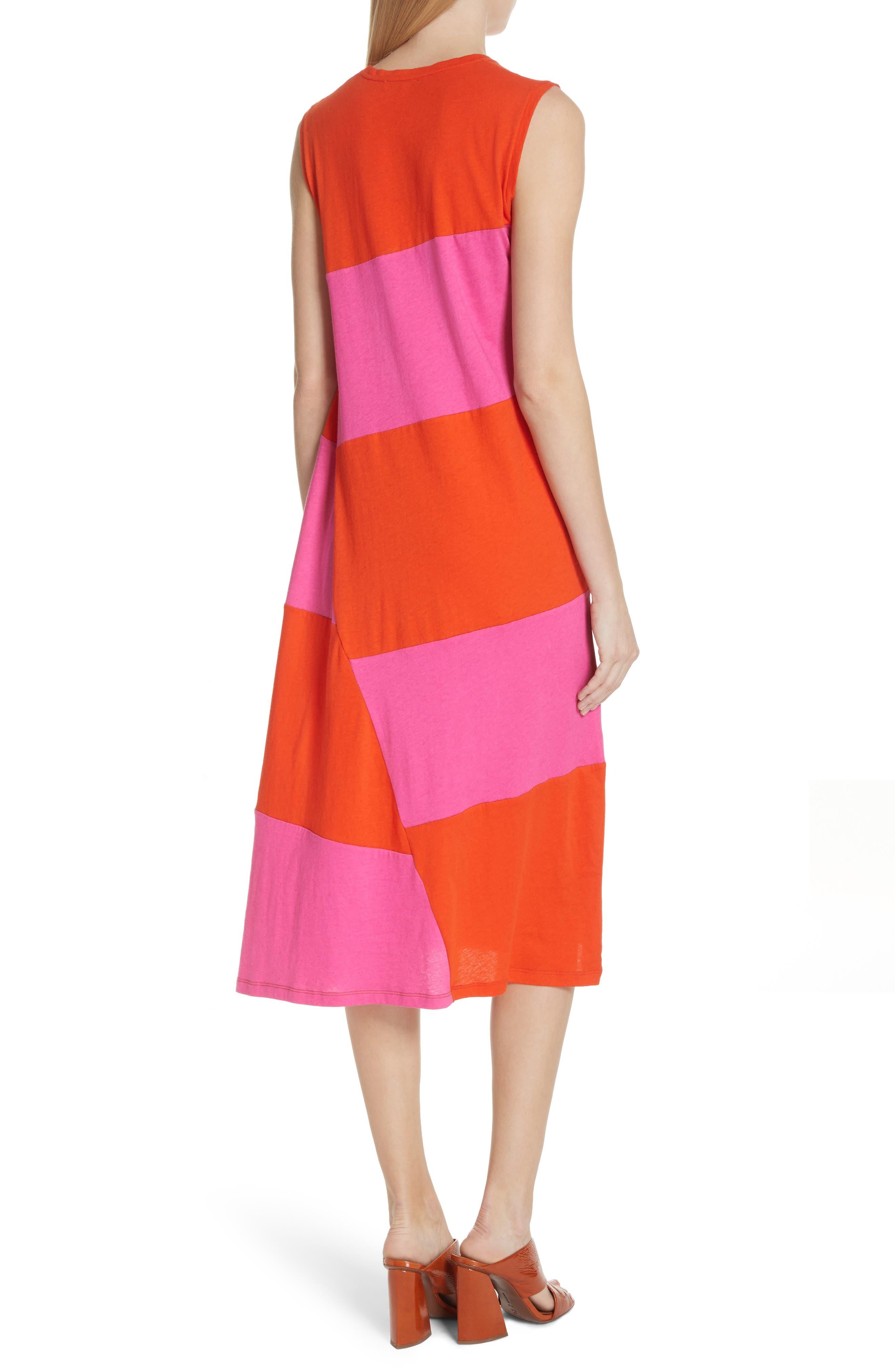 Dove Asymmetrical Stripe Dress,                             Alternate thumbnail 2, color,                             812