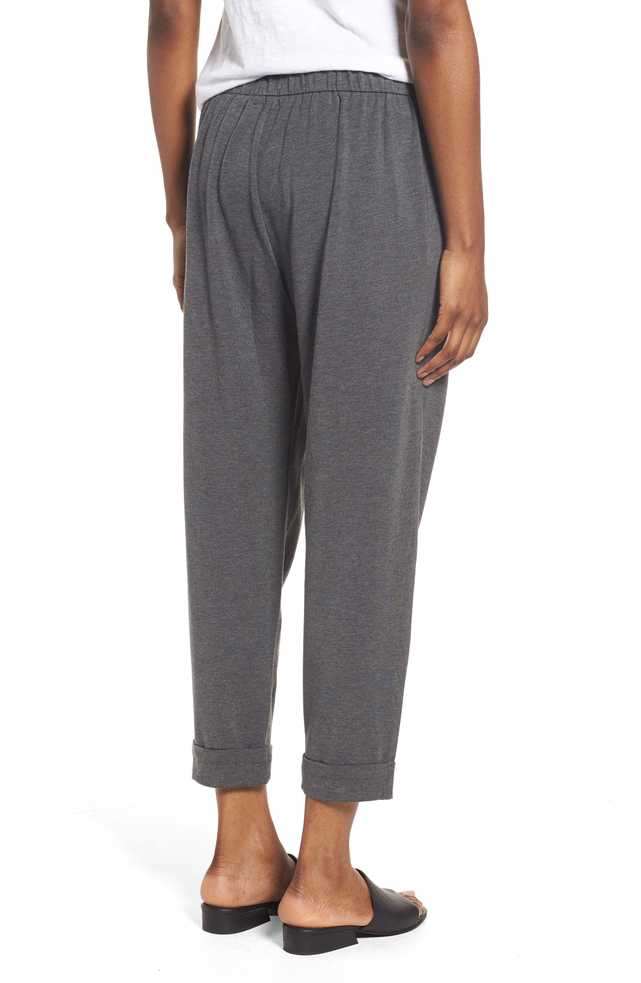 Slouchy Stretch Tencel<sup>®</sup> Pants,                             Alternate thumbnail 4, color,