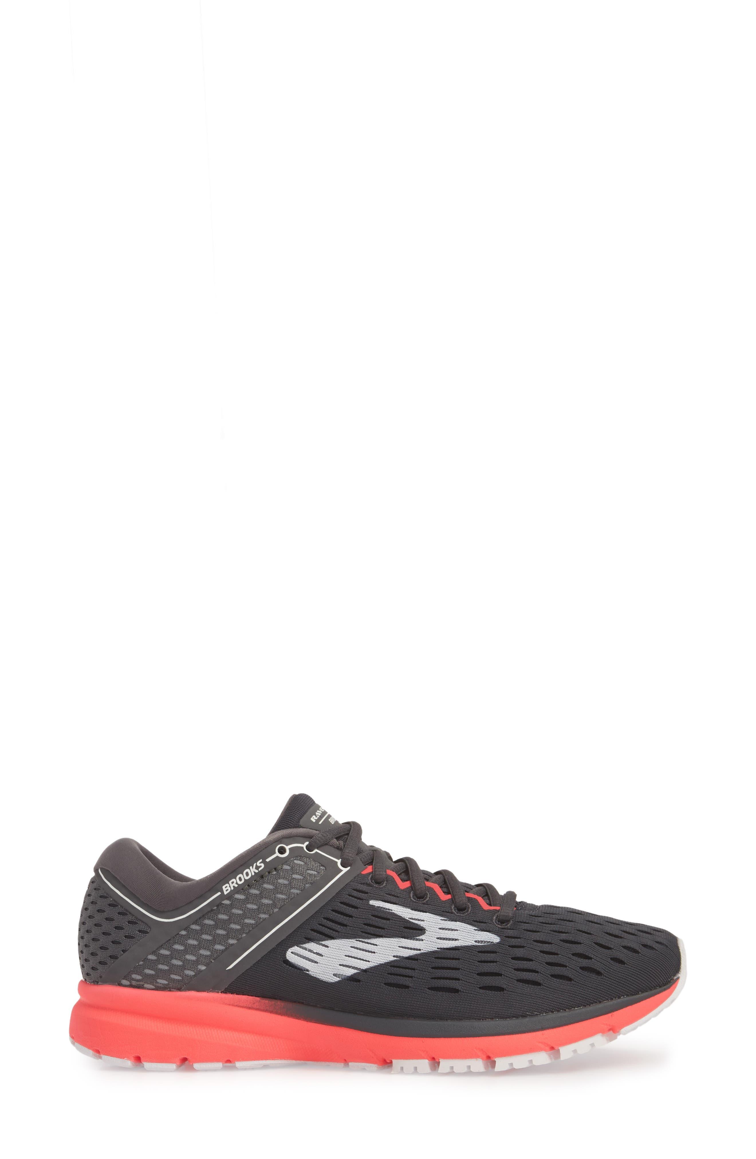 Ravenna 9 Running Shoe,                             Alternate thumbnail 3, color,                             EBONY/ DIVA PINK/ WHITE