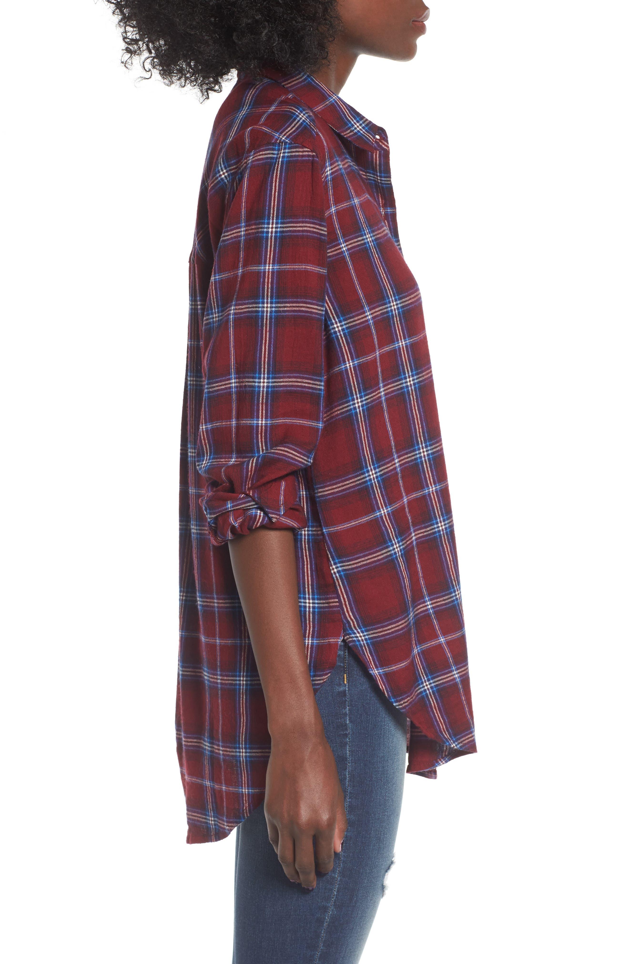 Plaid Cotton Blend Shirt,                             Alternate thumbnail 13, color,
