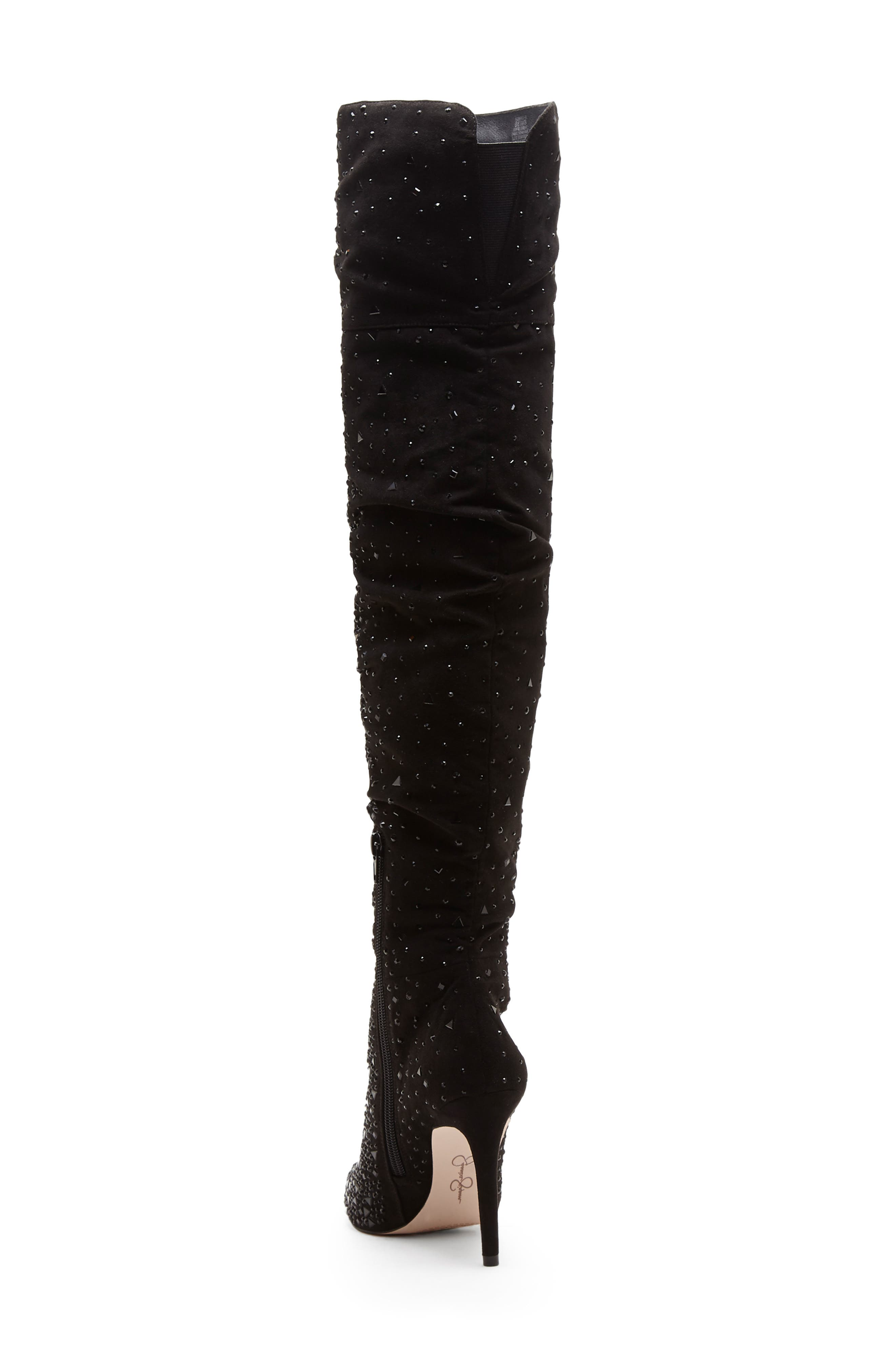 Luxella Over the Knee Boot,                             Alternate thumbnail 2, color,                             BLACK SPARKLES