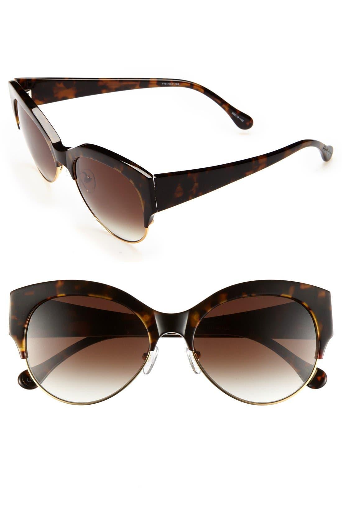 'Isabella' 55mm Sunglasses,                             Main thumbnail 2, color,