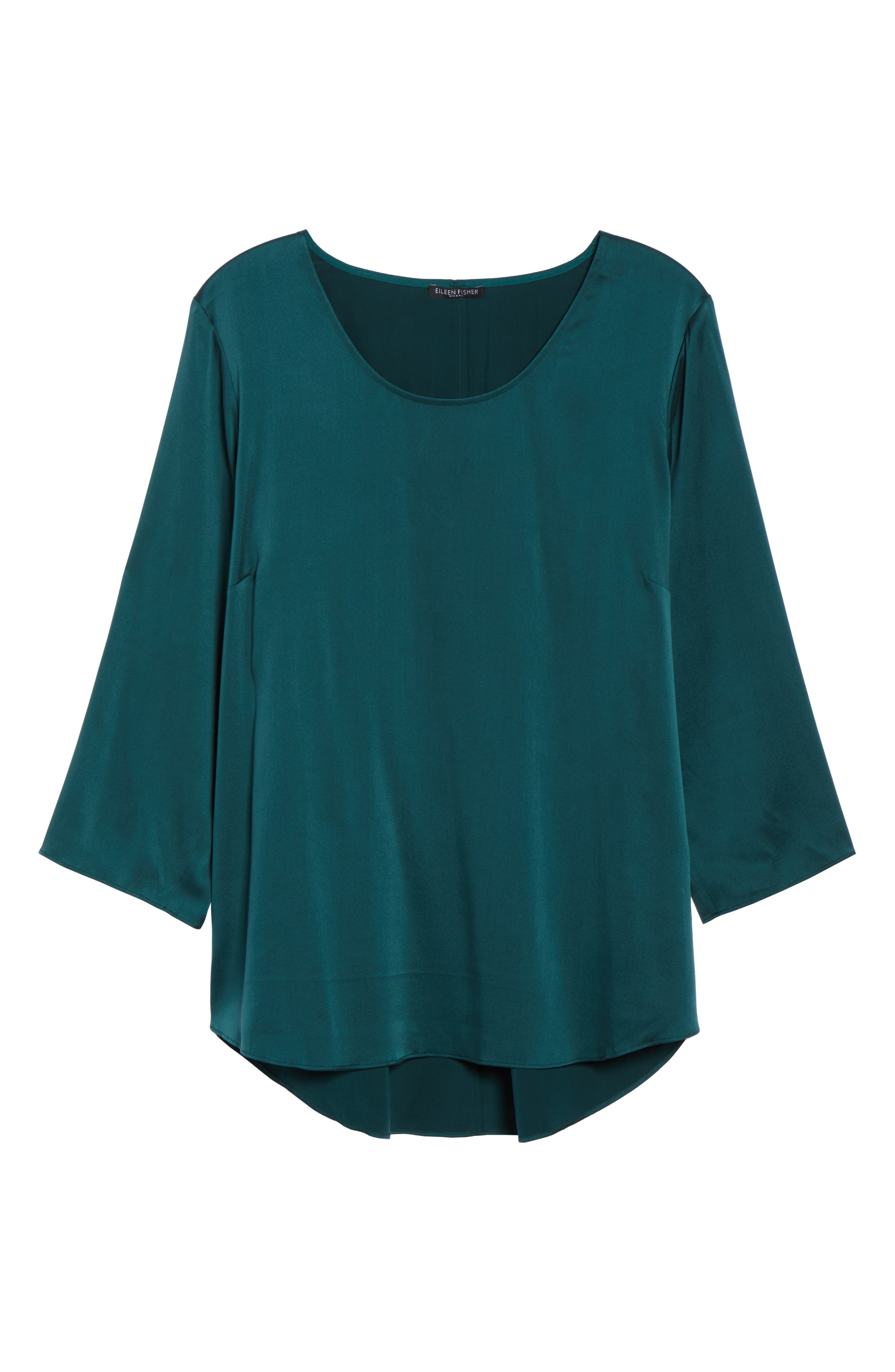 Stretch Silk Top,                             Alternate thumbnail 6, color,                             303