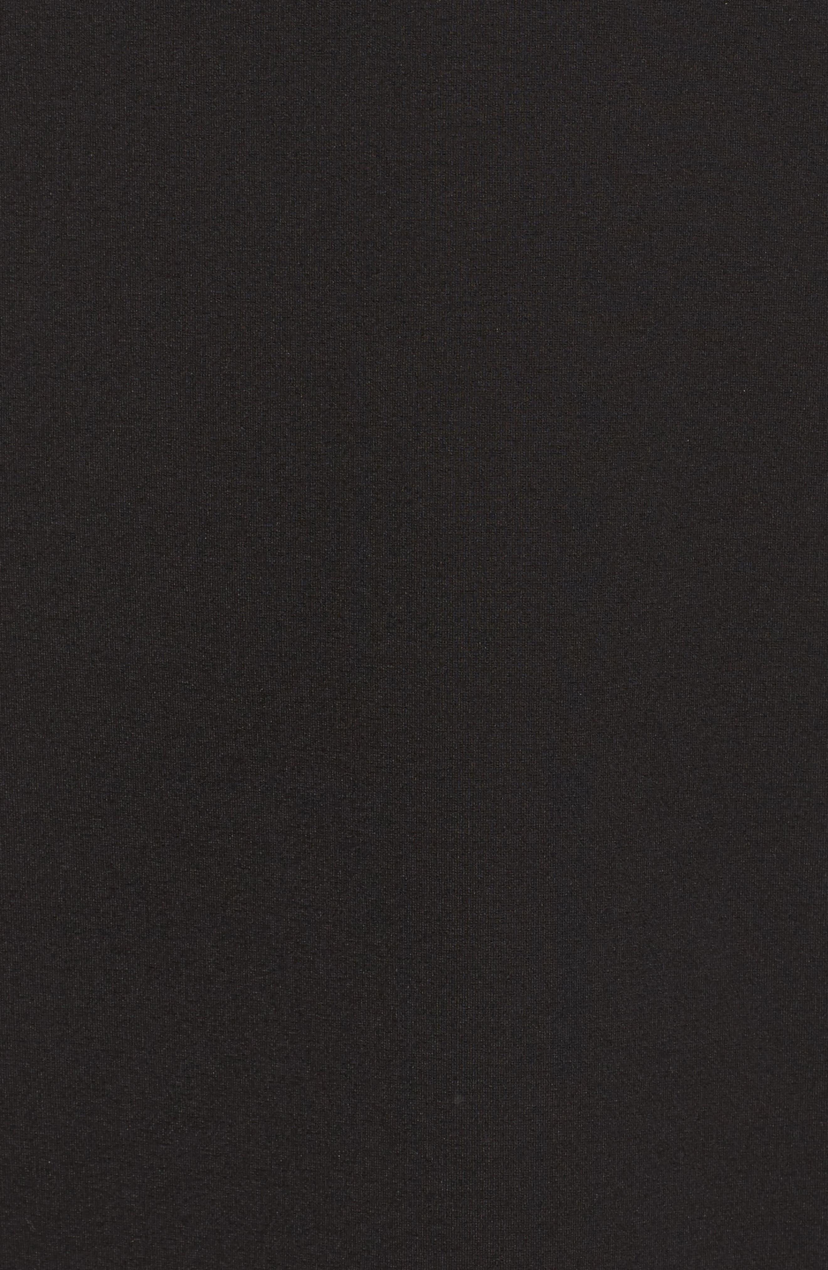 Laila Choker Body-Con Dress,                             Alternate thumbnail 5, color,                             001