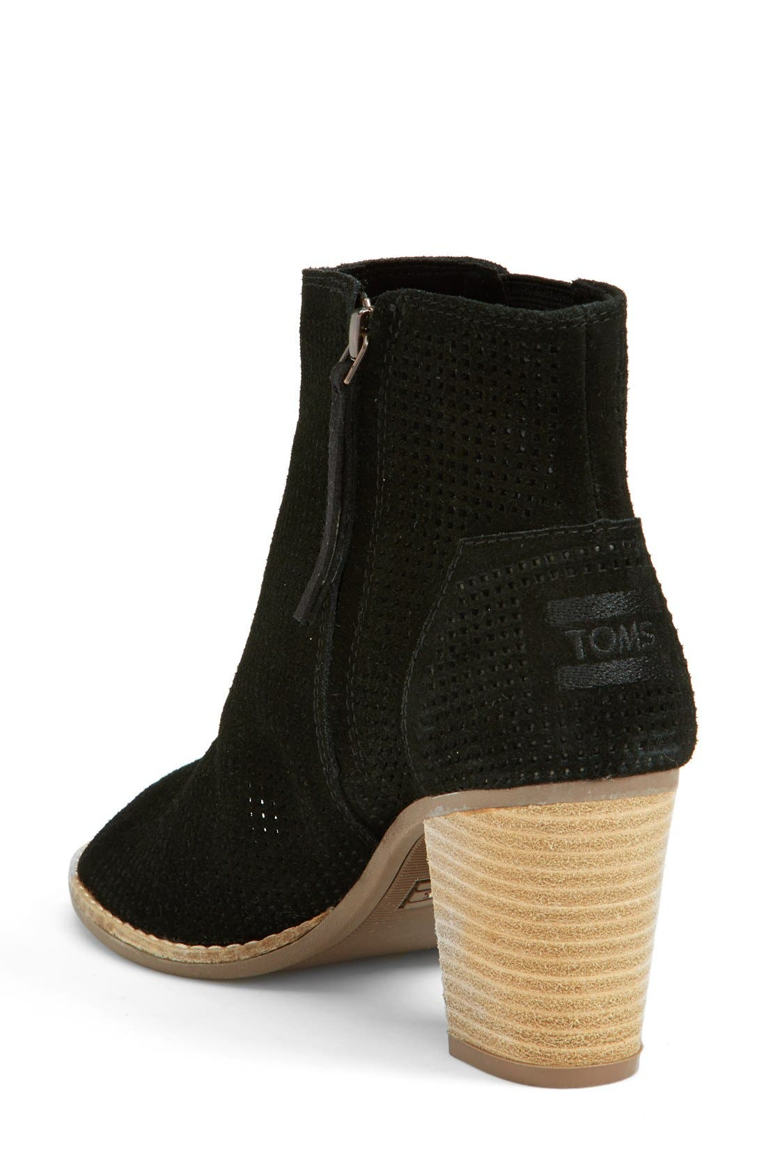 'Majorca' Suede Bootie,                             Alternate thumbnail 3, color,                             001