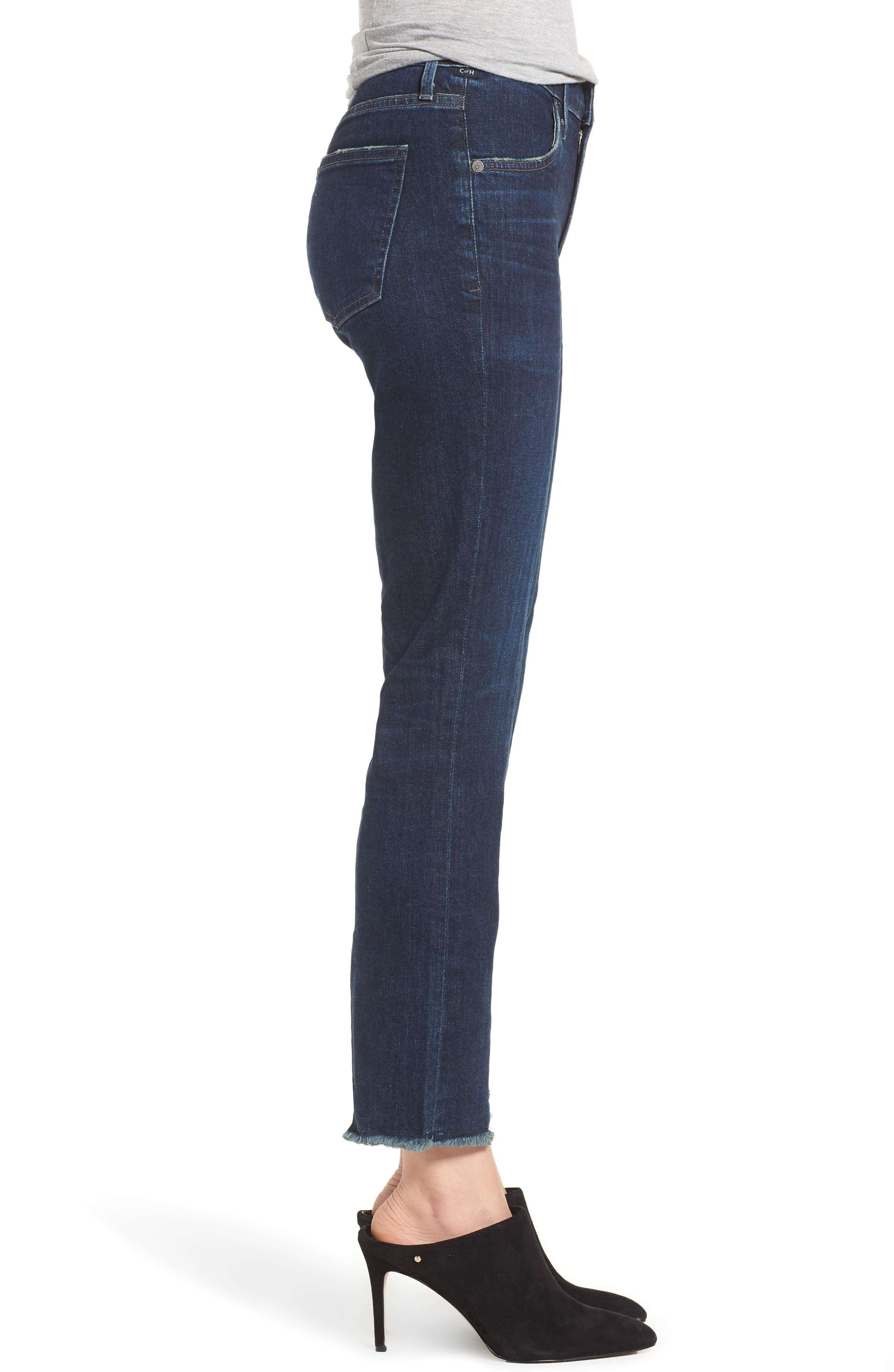 Amari Ankle Skinny Jeans,                             Alternate thumbnail 3, color,                             401