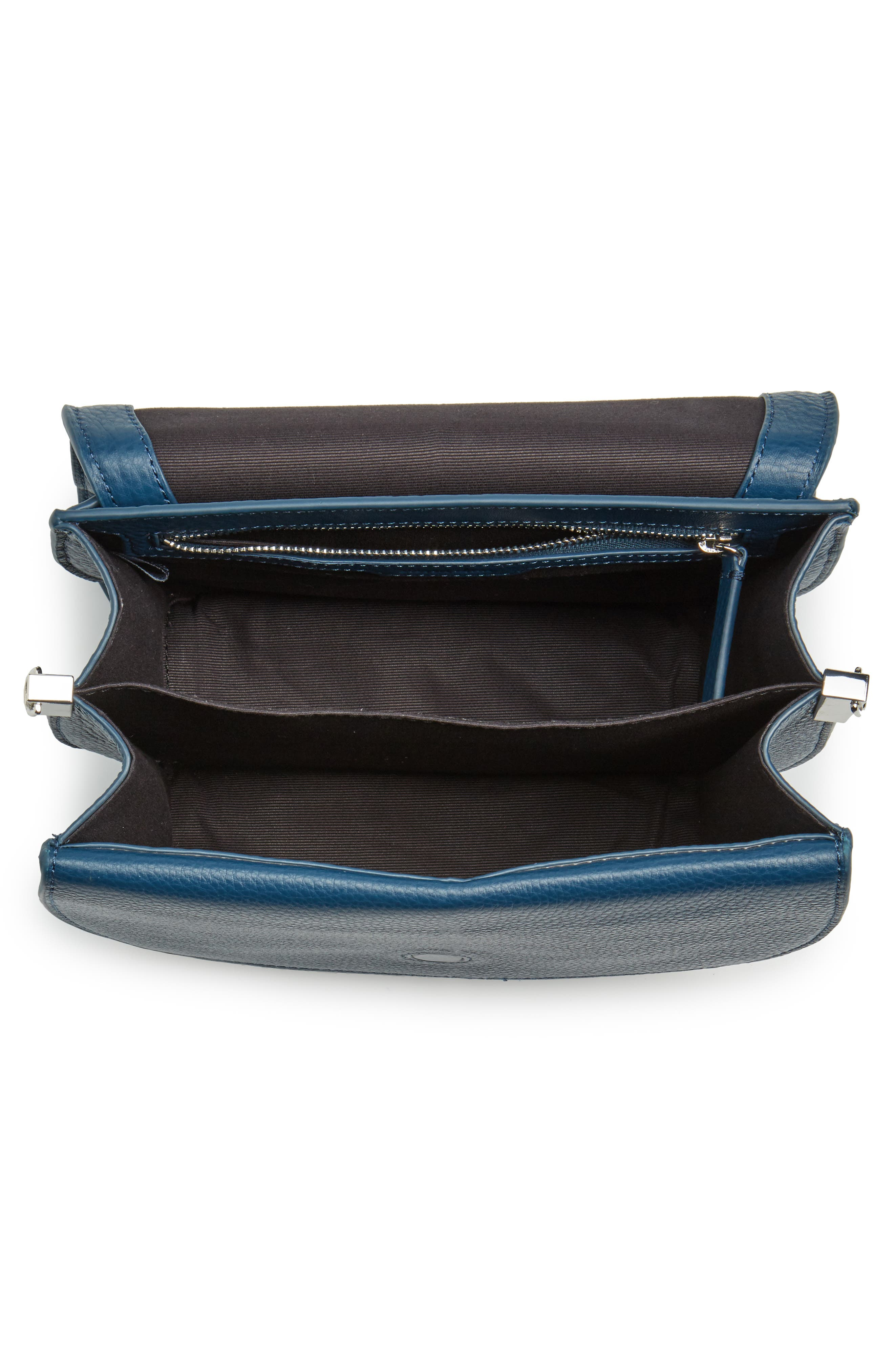 Landon Leather Crossbody Saddle Bag,                             Alternate thumbnail 14, color,