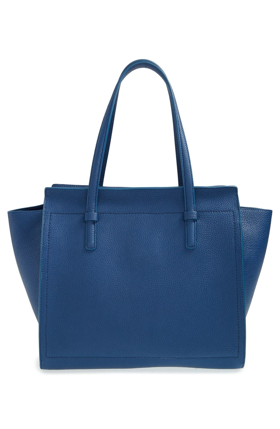 'Small Amy' Calfskin Leather Tote,                             Alternate thumbnail 2, color,                             400