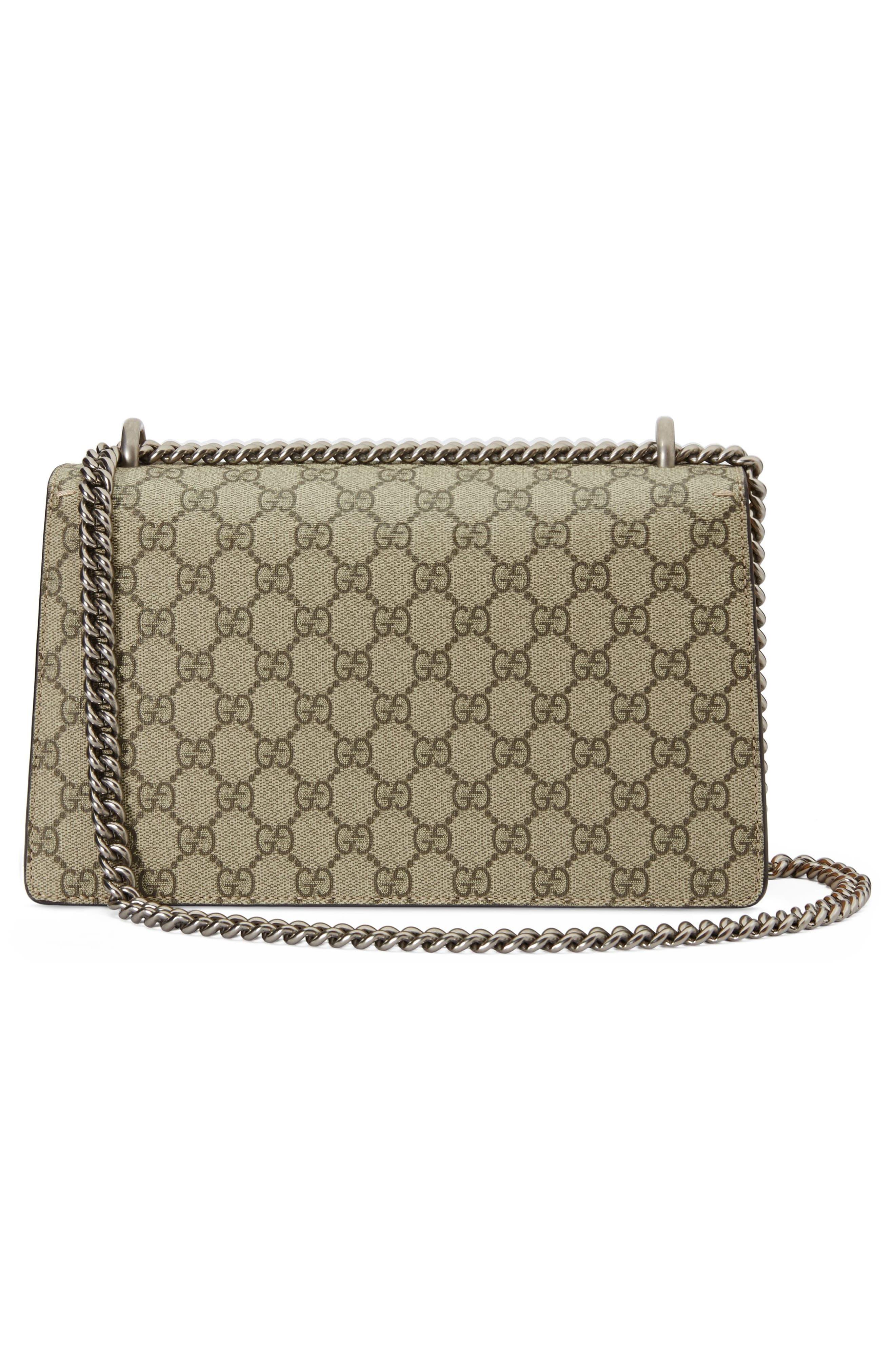 Small Dionysus Embellished GG Supreme & Genuine Python Shoulder Bag,                             Alternate thumbnail 2, color,                             BEIGE EBONY/ VIPER YELLOW