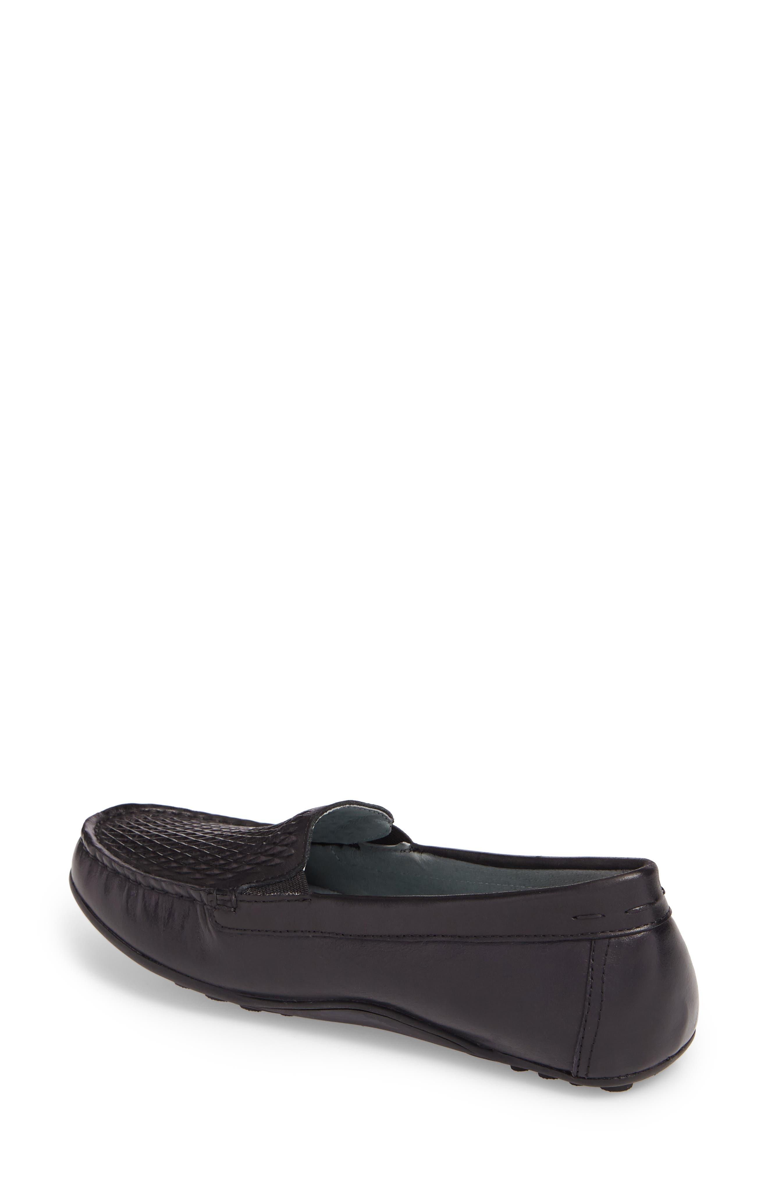 Posh Driving Loafer,                             Alternate thumbnail 2, color,                             BLACK LEATHER