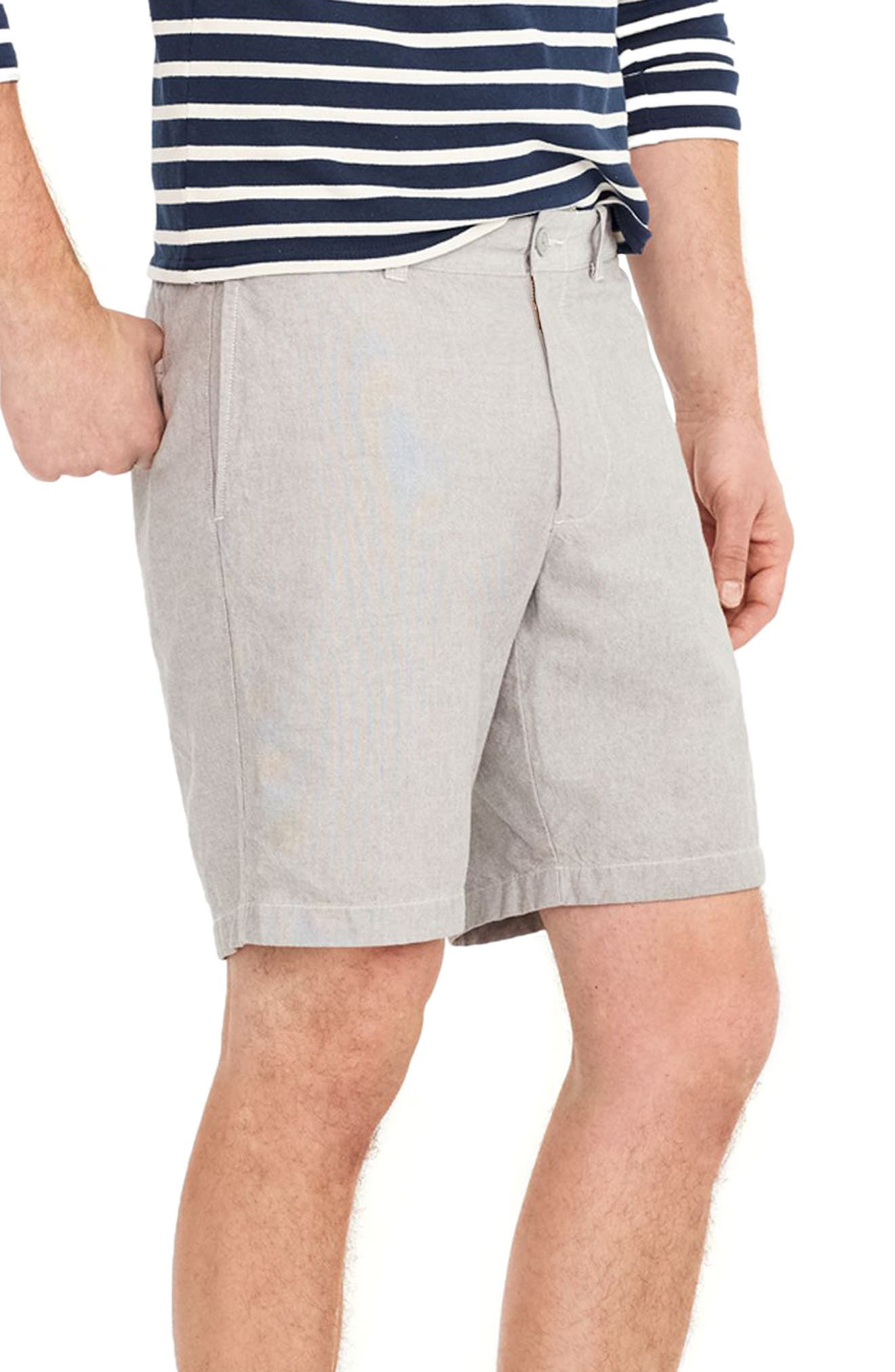 Stretch Chambray Shorts,                             Alternate thumbnail 3, color,                             020
