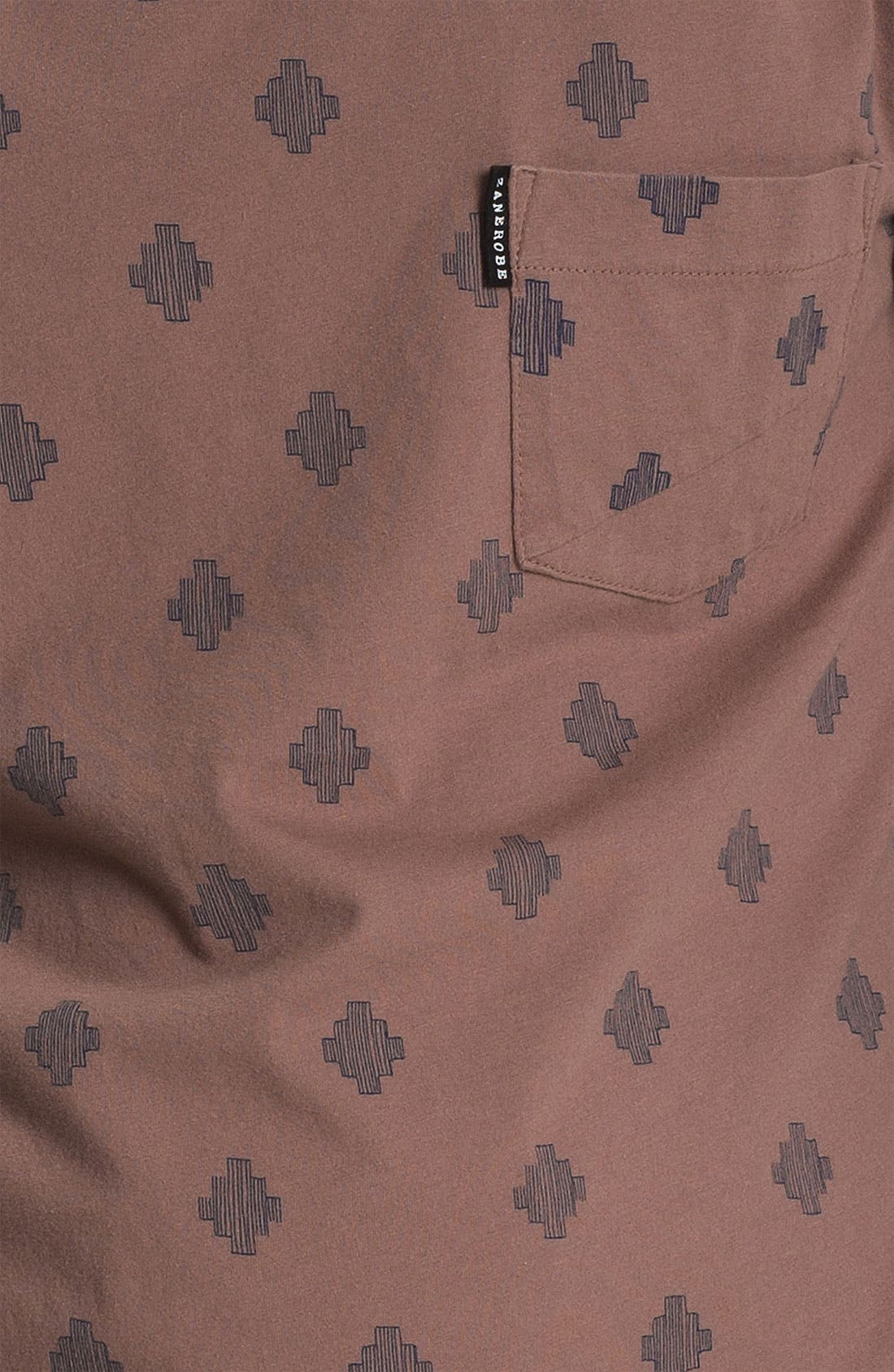 'Saris' Print Pocket T-Shirt,                             Alternate thumbnail 5, color,                             690